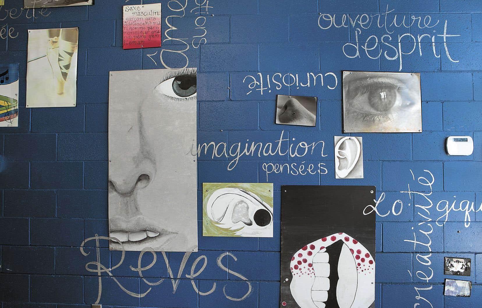Une murale réalisée par des élèves d'une école secondaire de la commission scolaire des Affluents.
