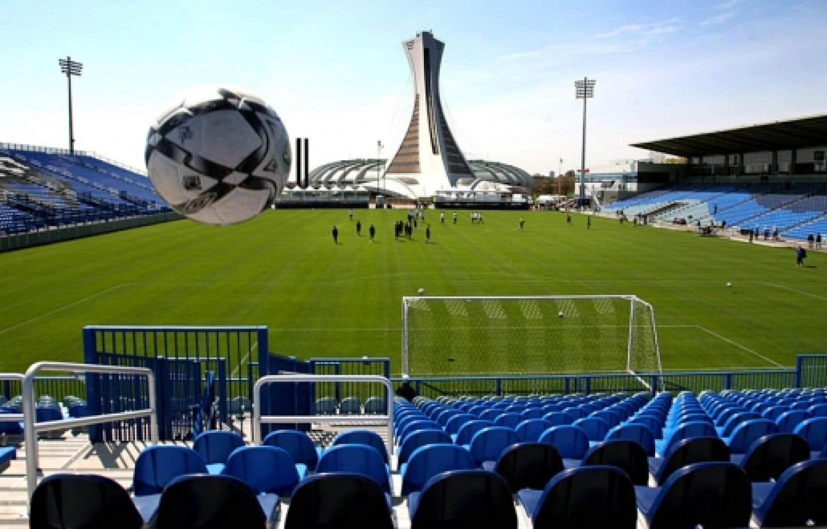 L'Impact de Montréal s'entraîne tout près du Stade olympique, au stade Saputo.