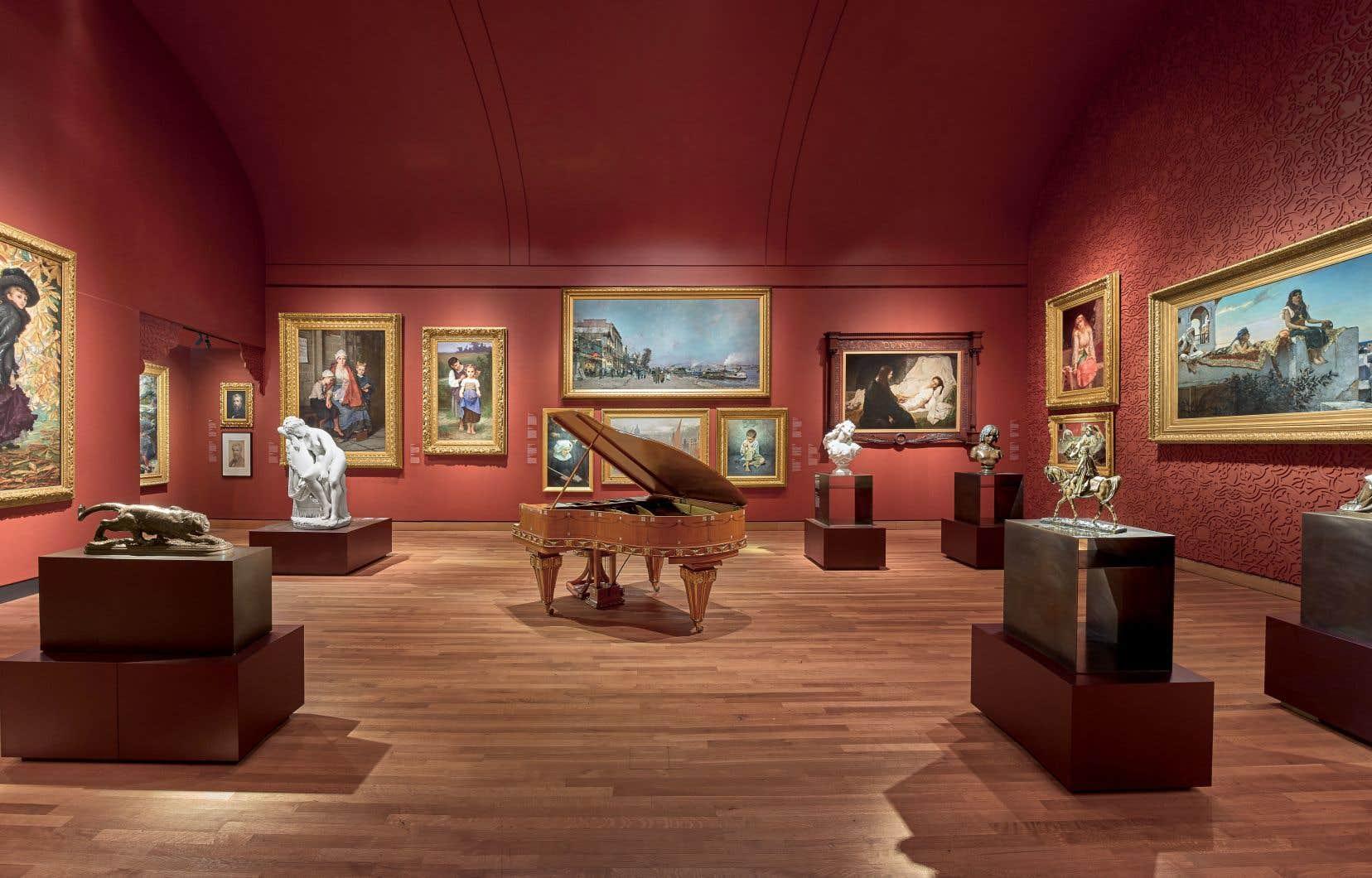 Une salle du Pavillon pour la Paix Michal et Renata Hornstein du Musée des beaux-arts de Montréal. Le MBAM fait partie d'un regroupement de musées canadiens qui pourront intervenir dans l'appel entre le procureur général du Canada et la maison de vente aux enchères Heffel.