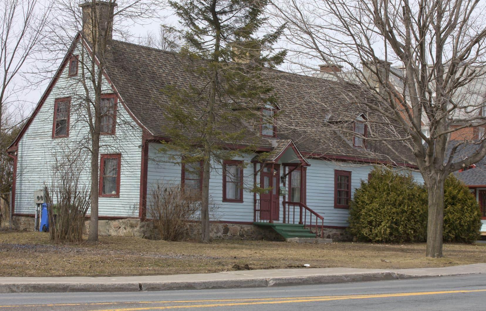 La maison Boileau à Chambly, récemment rasée par la municipalité