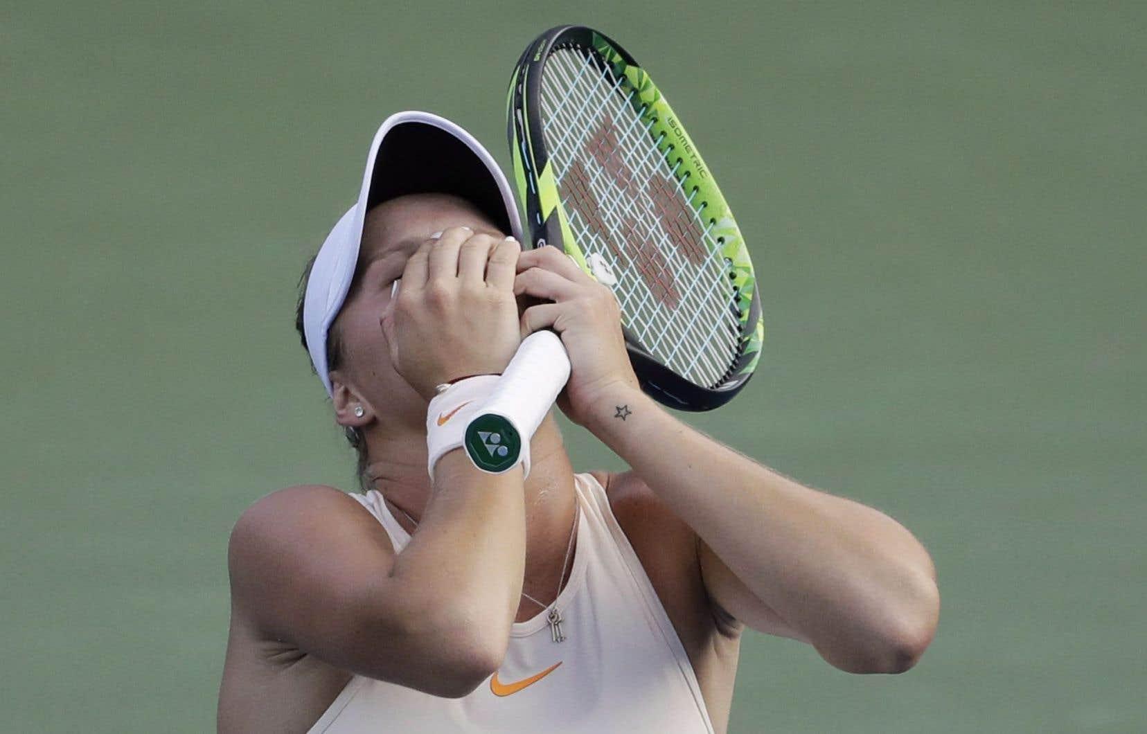 Bouchard a perdu une bataille de trois manches 2-6, 7-5, 12-10 contre la Belge Elise Mertens.