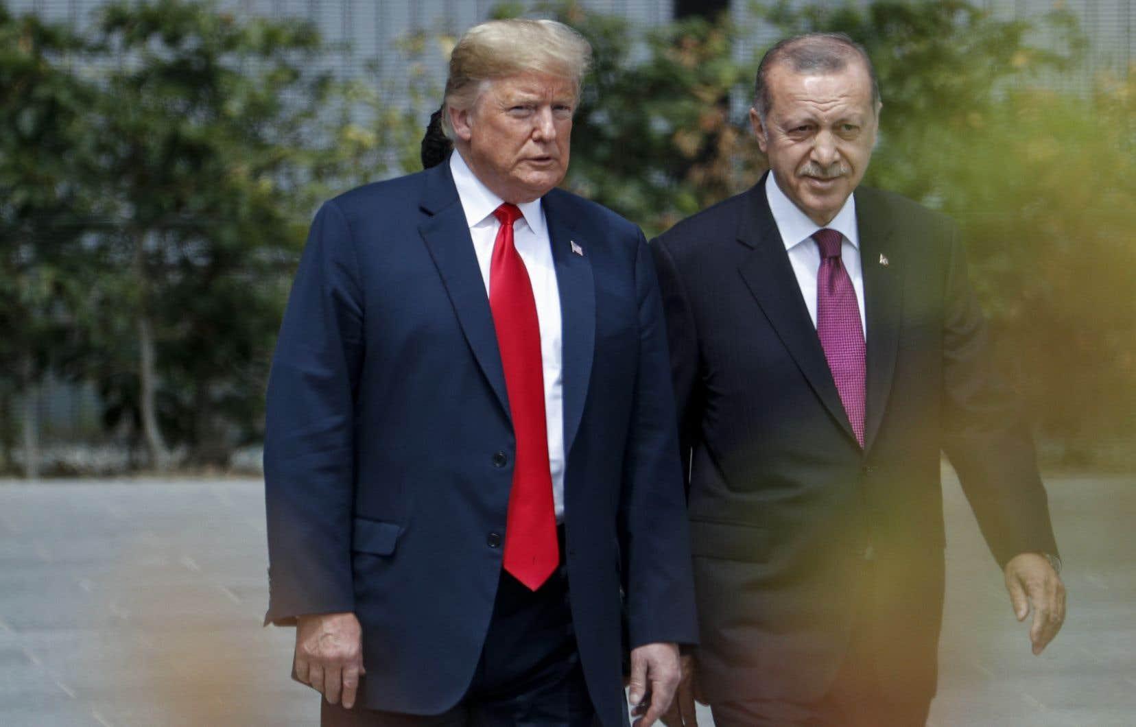 Les présidents Donald Trump etRecep Tayyip Erdogan