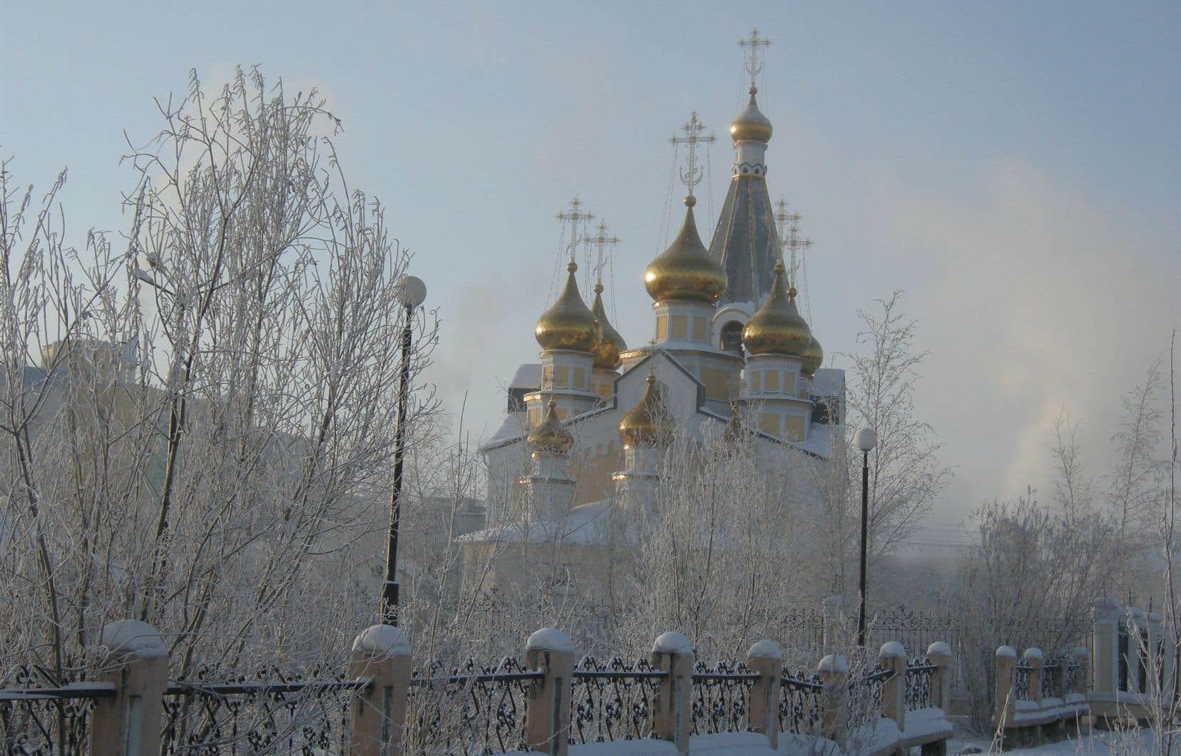 Une église à Yakoutsk, image de marque de la ville