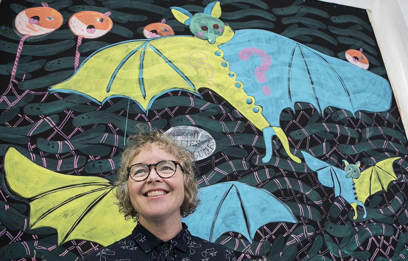 La peinture (et sculpture) de l'ancienne membre du centre Clark Cynthia Girard a souvent été empreinte d'une volonté de s'affranchir, voire de riposter aux normes.