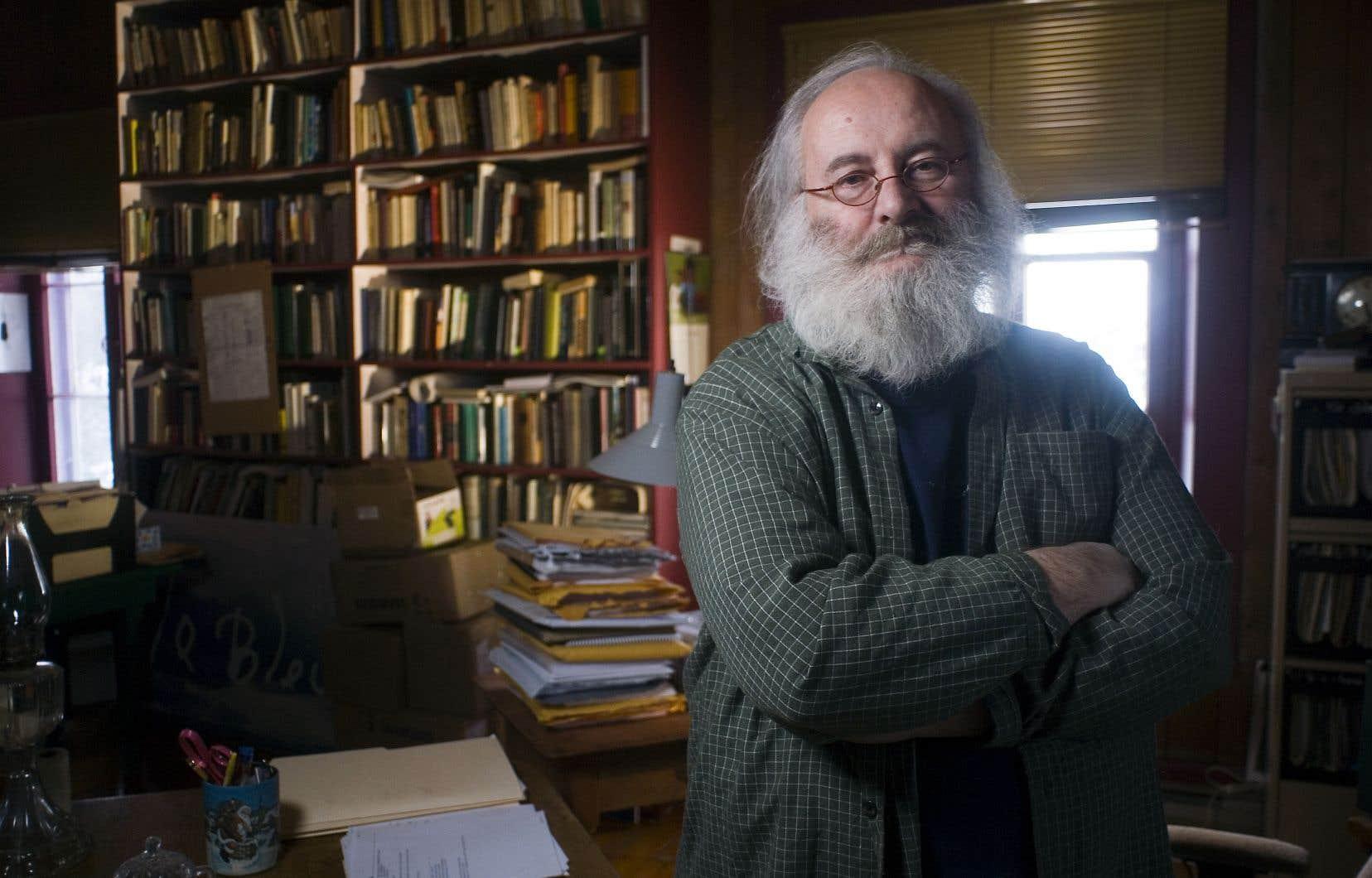 Le style ripailleur de Victor-Lévy Beaulieu (ici photographié en 2011) demeure la meilleure raison de s'engouffrer dans les dédales de sa pléthorique bibliothèque, croit le professeur de littérature Michel Nareau.