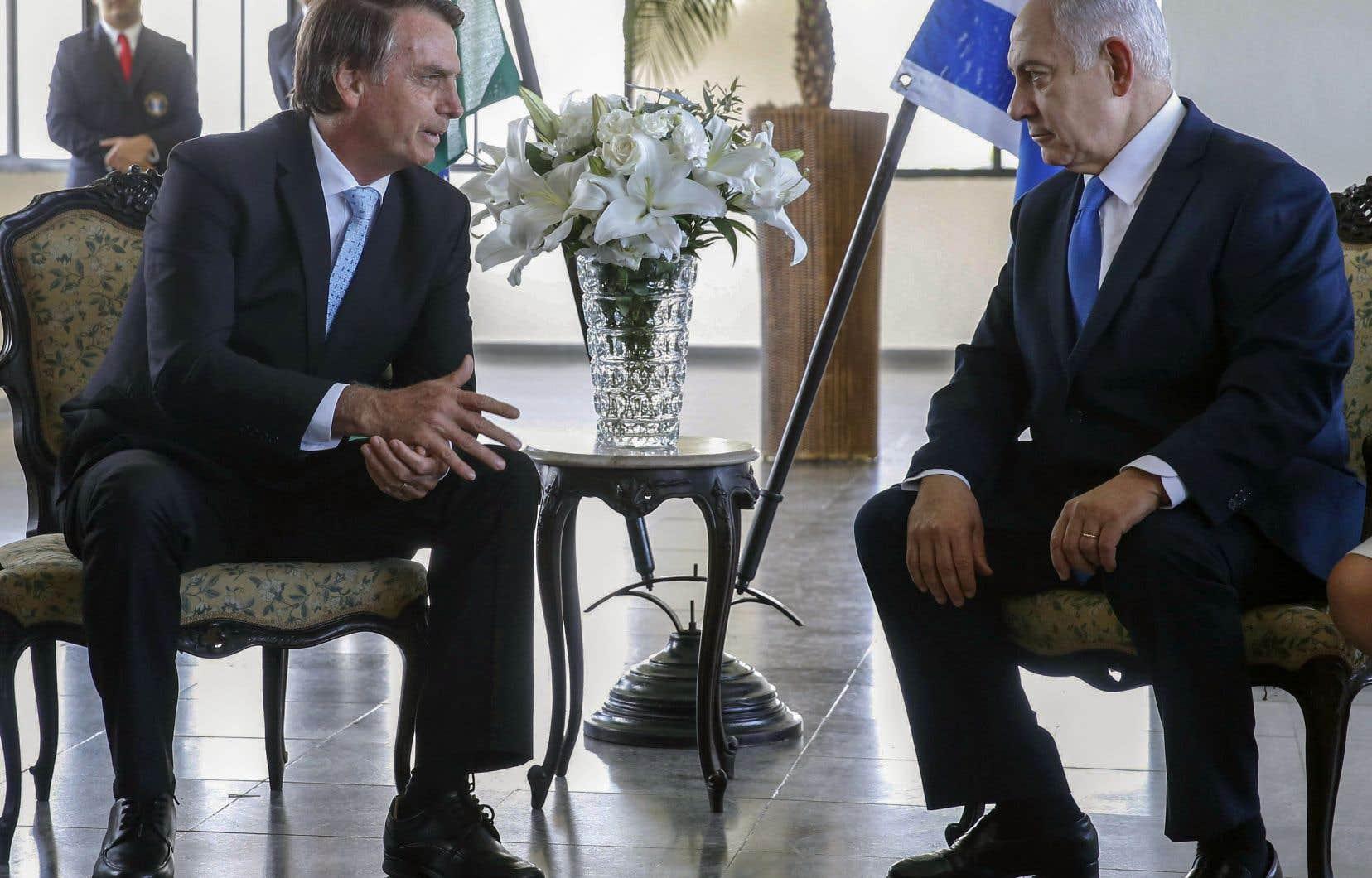Benjamin Nétanyahou était en visite au Brésil à l'occasion de l'investiture du président élu Jair Bolsonaro.