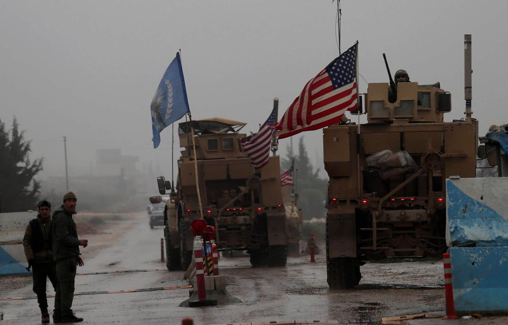 <p>Les troupes américaines, essentiellement des forces spéciales, sont présentes pour combattre le groupe EI et former les forces locales dans les zones reprises aux djihadistes.</p>