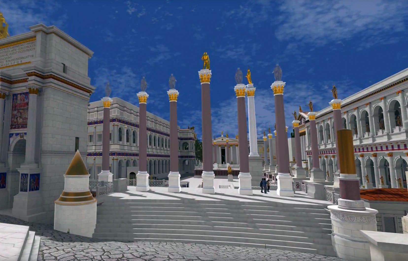 Le projet Rome Reborn a mobilisé 50 historiens, archéologues et informaticiens pendant 22ans pour recréer 7000 édifices et monuments de la Rome de l'an 320.