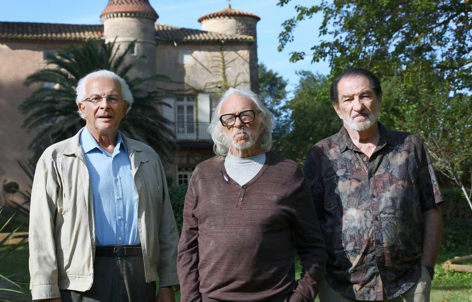 Roland Giraud, Pierre Richard et Eddy Mitchell donnent vie au trio infernal imaginé par les bédéistes Paul Cauuet et Wilfrid Lupano.