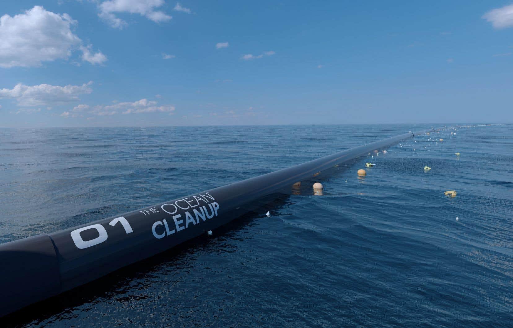 L'organisation Ocean Cleanup a constaté rapidement que la barrière, surnommée «Wilson», n'obtenait absolument pas les résultats espérés.
