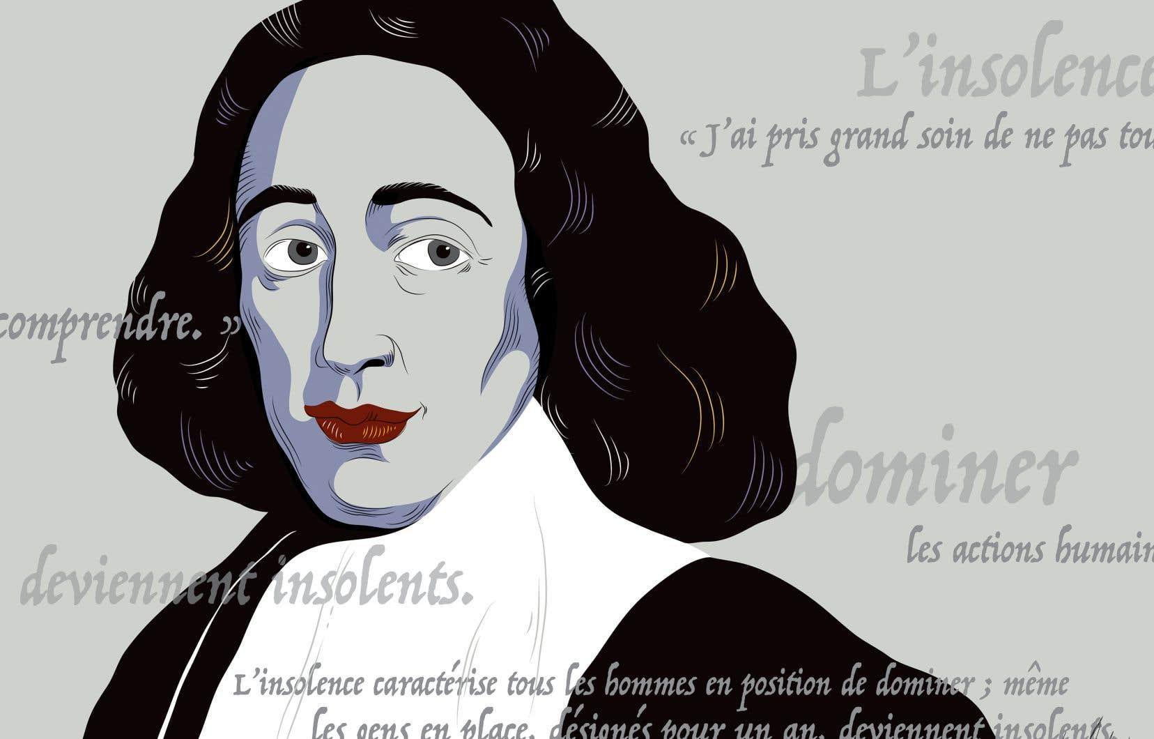 La doctrine: Spinoza situe la nature, Dieu, l'homme et toutes les choses dans un système parfaitement rationnel. Selon lui, l'homme et ses sentiments, comme toutes les choses de la nature, suivent un raisonnement logique.