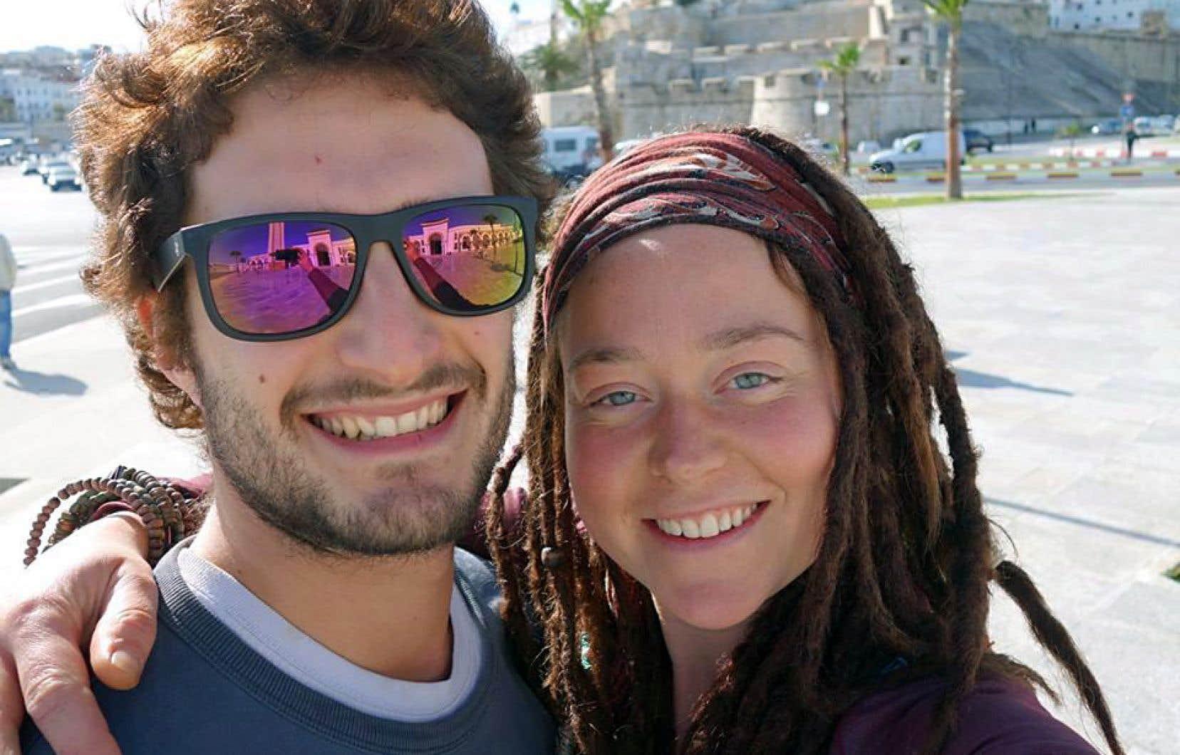 Cette photo d'Edith Blais et de son ami Luca Tacchetto, lors de leur périple africain, fait partie des derniers clichés publiés sur Facebook.