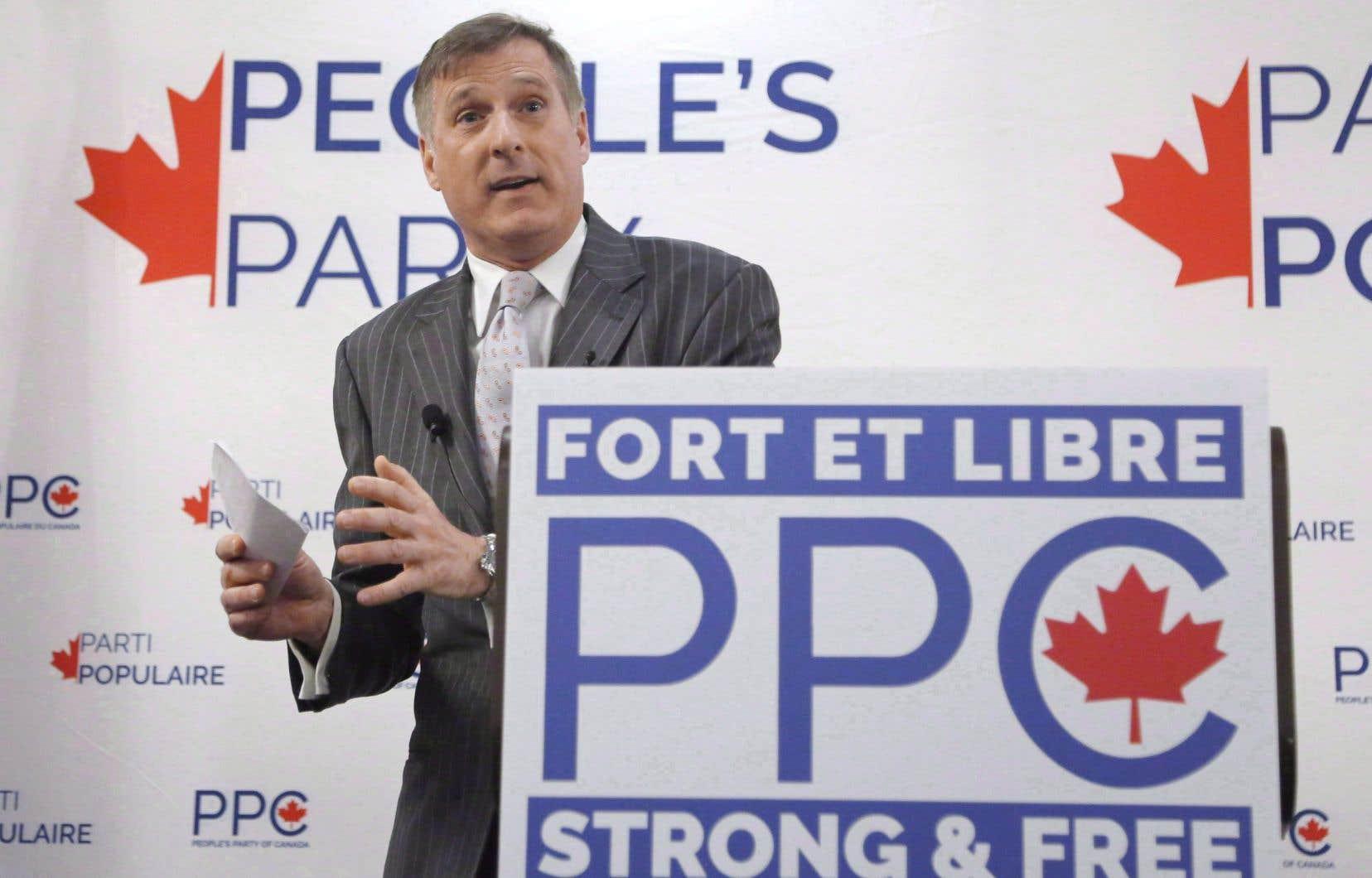 Maxime Bernier a quitté le Parti conservateur pour fonder le Parti populaire du Canada.
