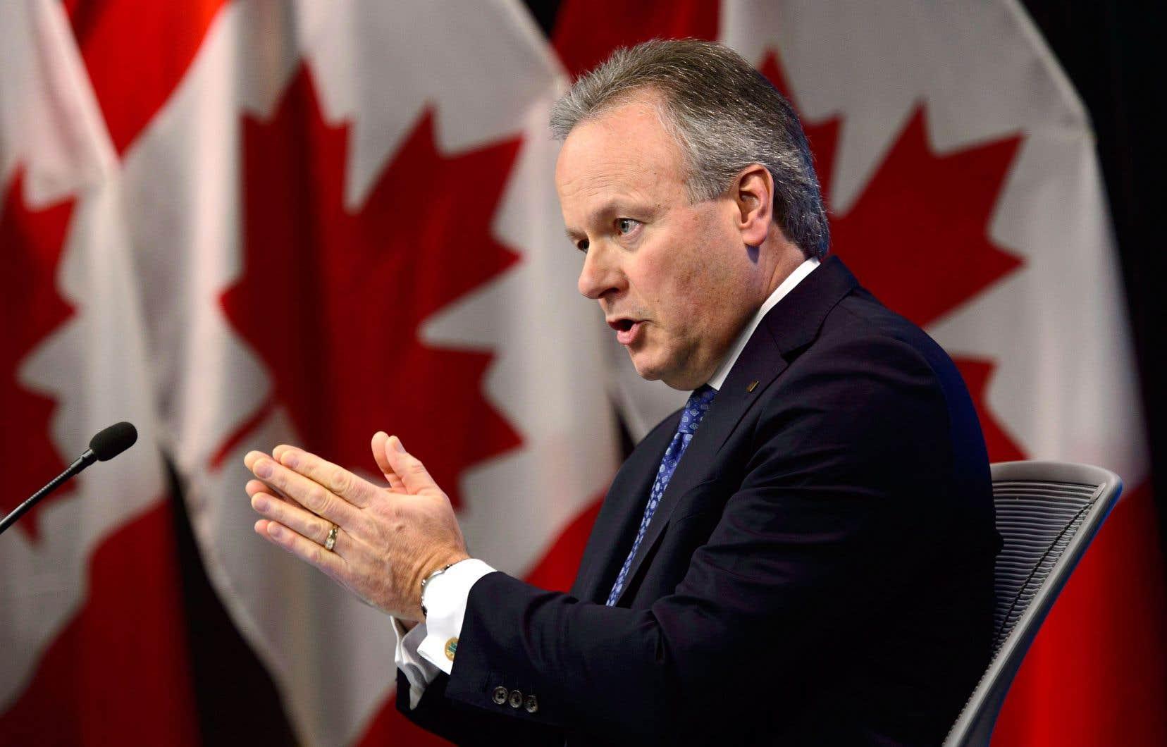 Le gouverneur de la Banque du Canada, Stephen Poloz, mercredi, en conférence de presse