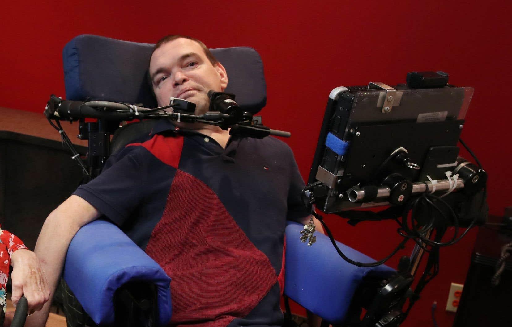 Jean Truchon, l'un des deux requérants qui contestent les lois québécoise et canadienne sur l'aide à mourir.