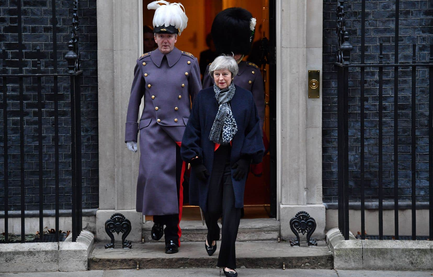 La première ministre britannique quittant le 10 Downing Street, à Londres, jeudi dernier