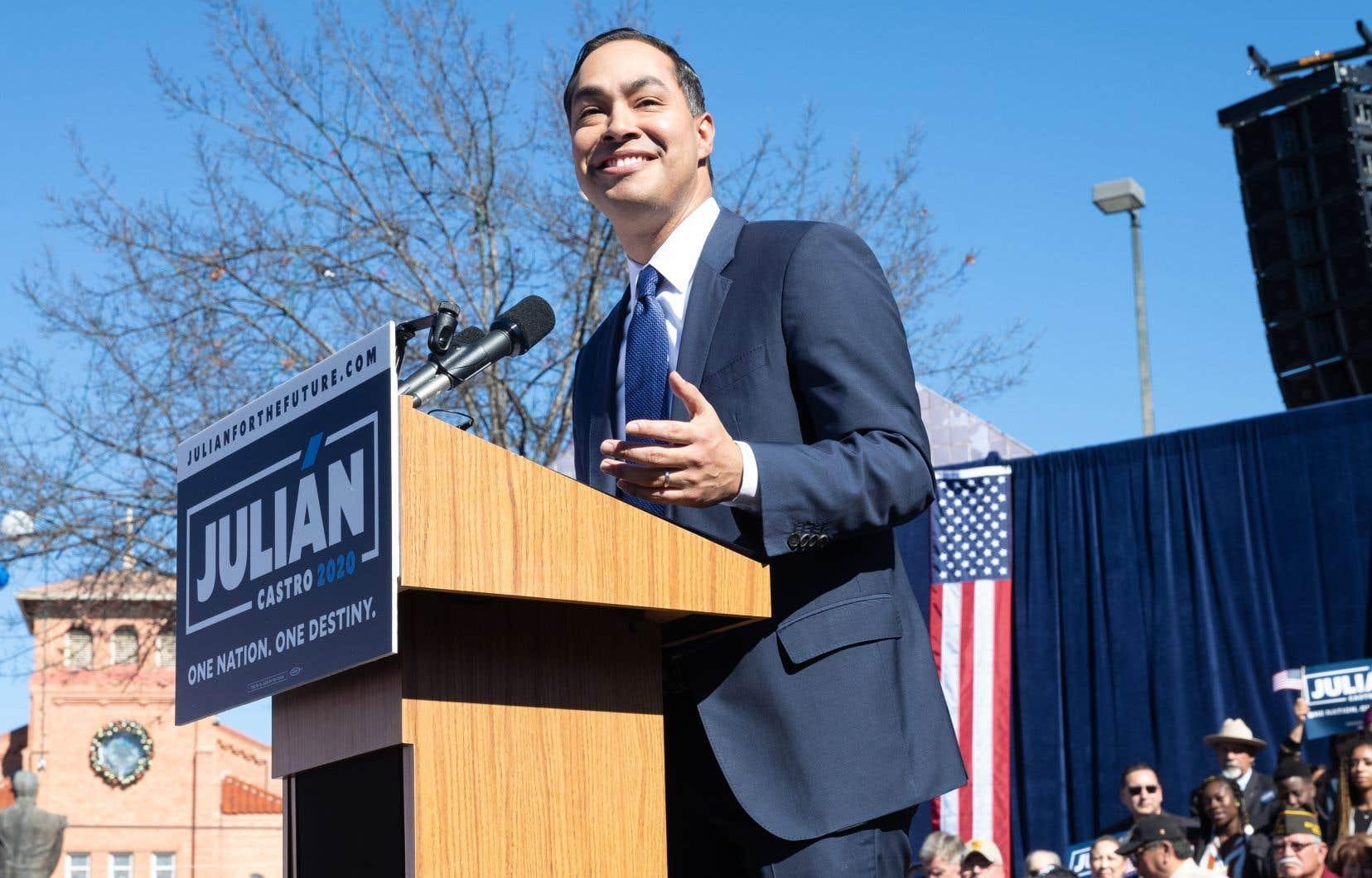 Petit-fils d'une immigrée mexicaine, Julian Castro, 44ans, devient le démocrate le plus en vue à faire son entrée officielle dans la course à la présidentielle de 2020.