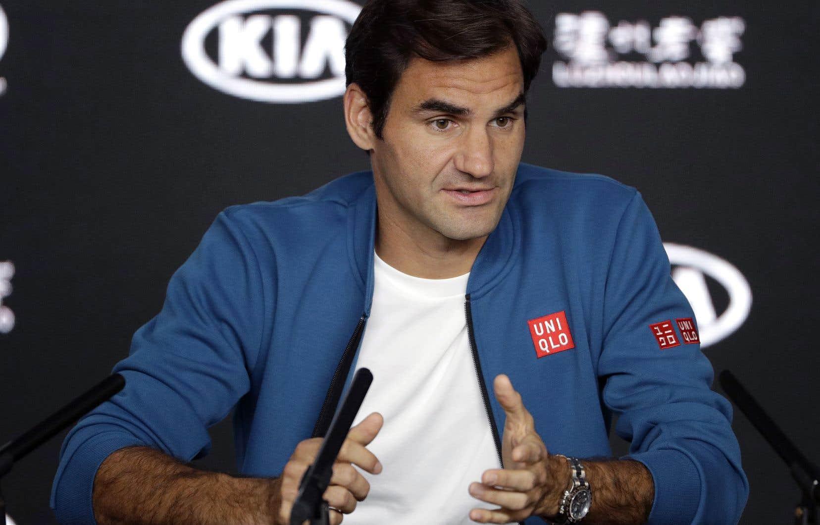 À 37ans, Roger Federer souhaiterait être le premier joueur à remporter sept titres en Australie.