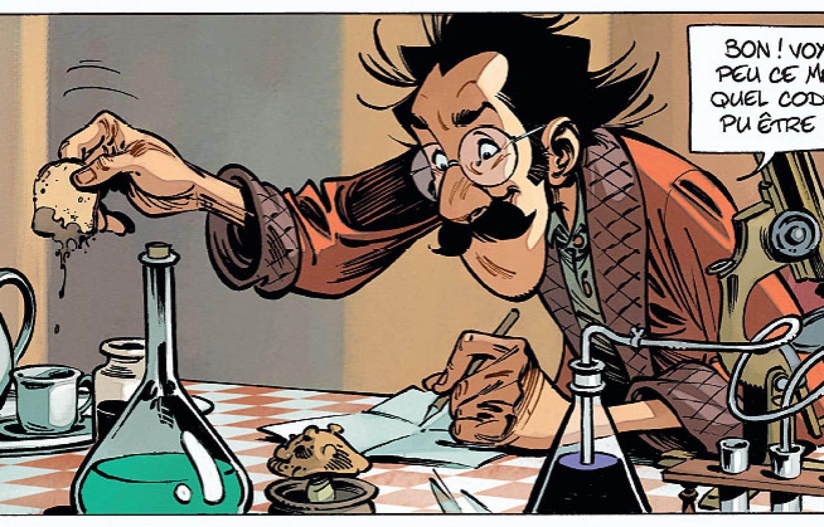 Le tome 1 de la série «Champignac», «Enigma», de l'excellent tandem Etien-Beka, présentera le comte Pacôme Hégésippe encore jeune homme et précocement génial (et déjà mycologue!).