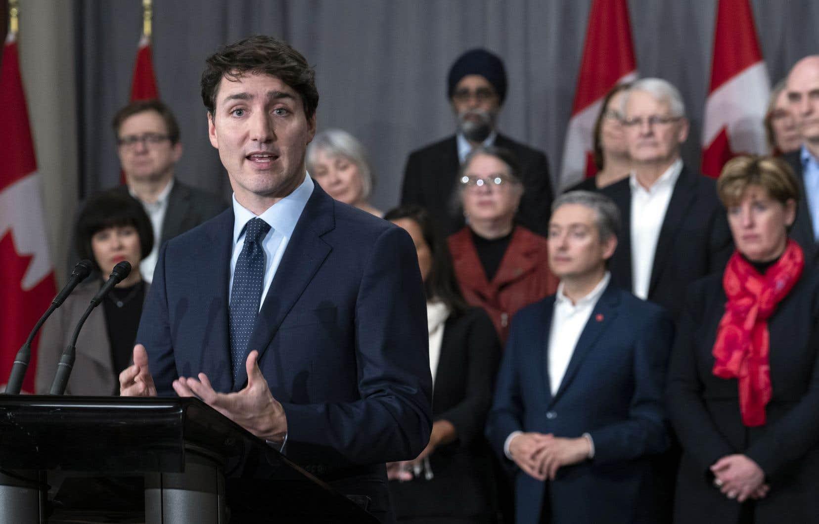 Le premier ministre Justin Trudeau avait réuni ses ministres à Sherbrooke avant la rentrée parlementaire.