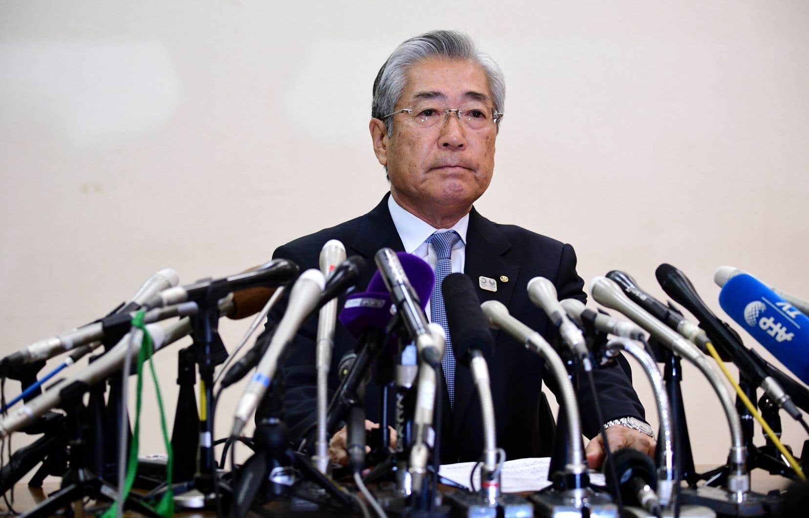 La justice reproche à Tsunekazu Takedad'avoir autorisé deux versements, en juillet et octobre 2013, pour obtenir «des votes favorables de membres du Comité international olympique» lors de l'attribution des JO à la capitale japonaise, le 7septembre 2013.