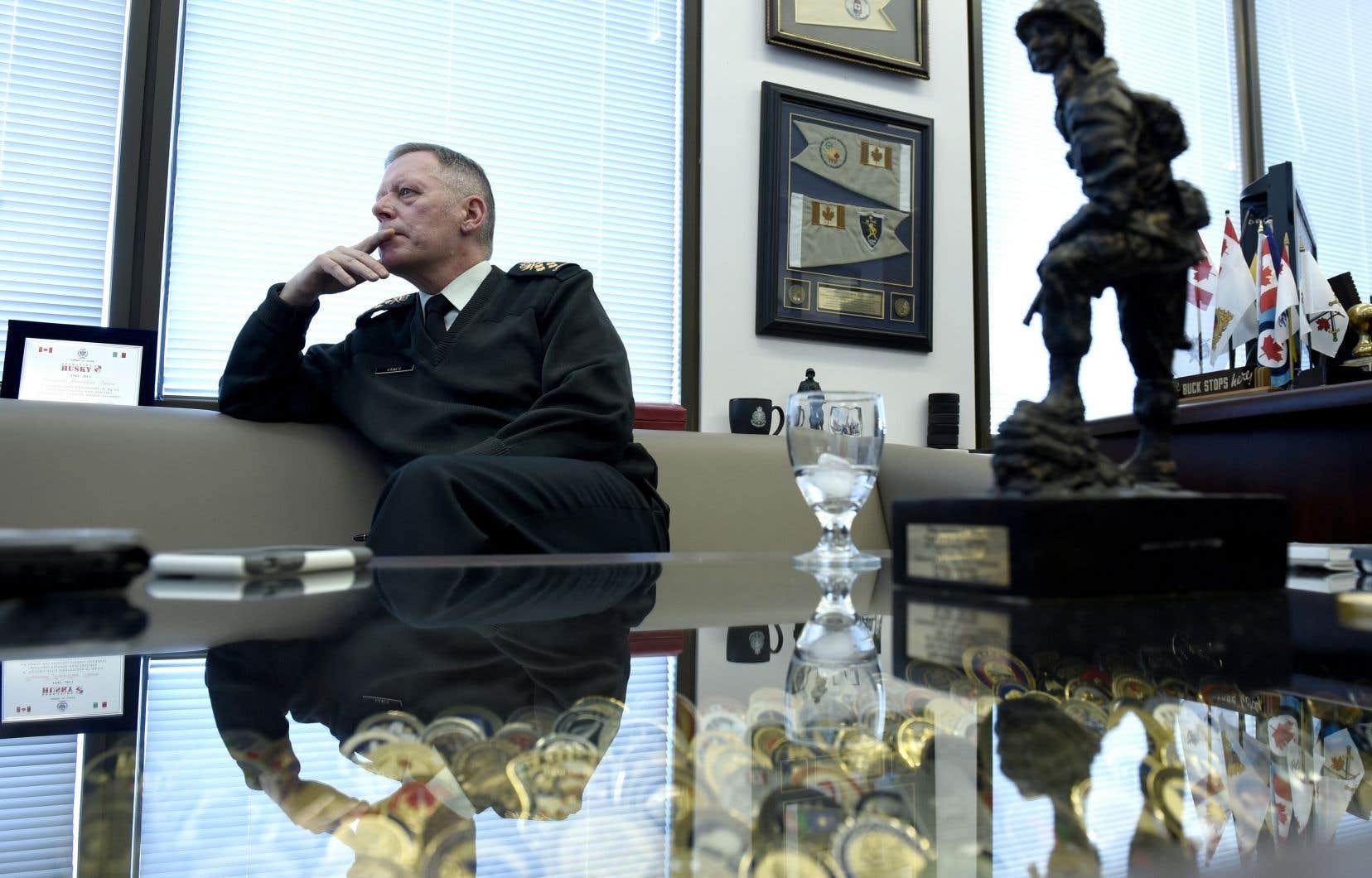 Le chef d'État-major de la défense du Canada,le général Jonathan Vance