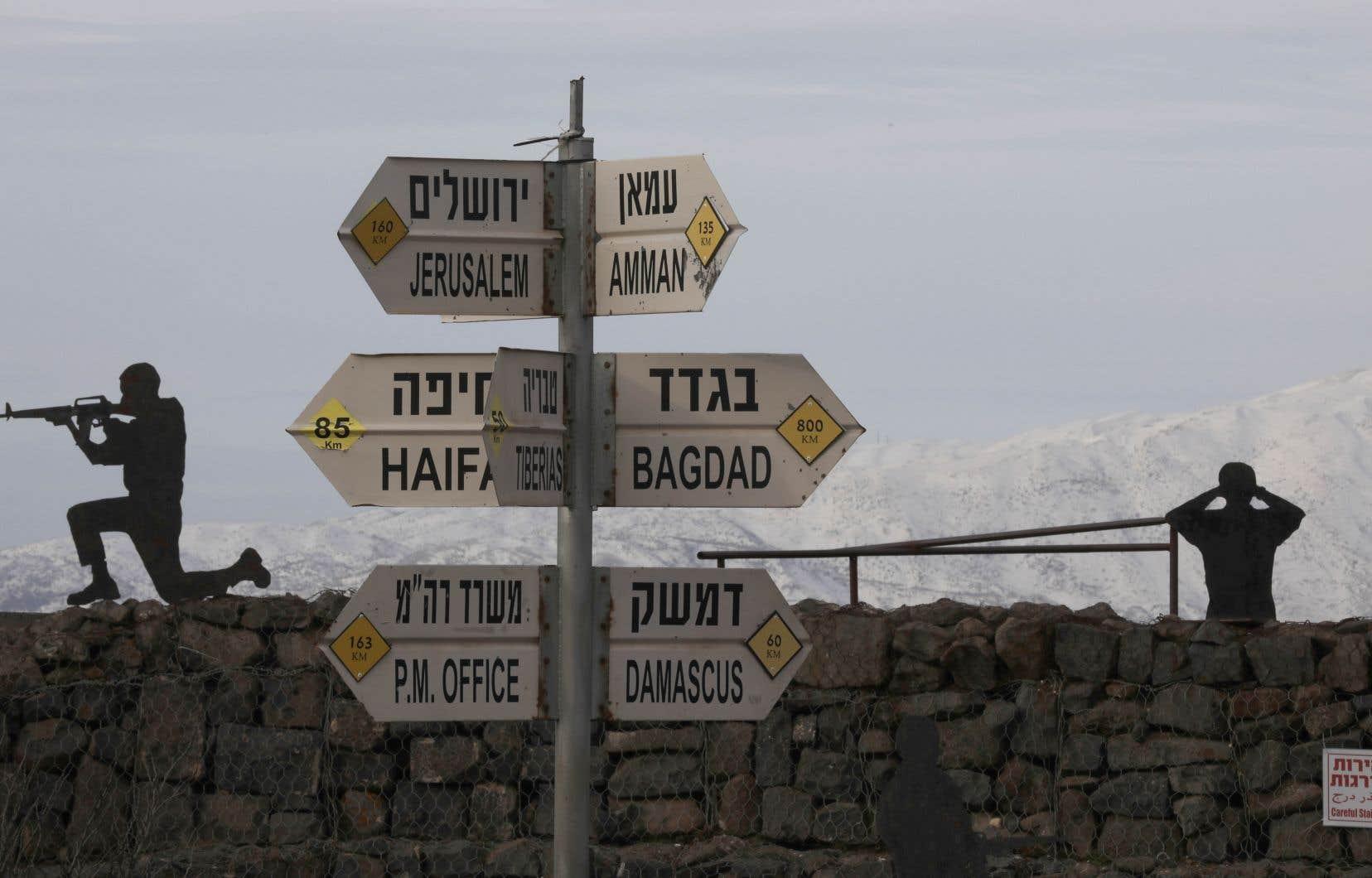 Les défenses antimissiles israéliennes ont intercepté une roquette sur les hauteurs du Golan.