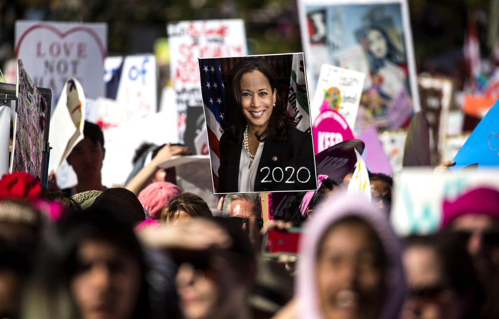 La sénatrice américaine Kamala Harris a annoncé lundi sa candidature à l'élection présidentielle de 2020.