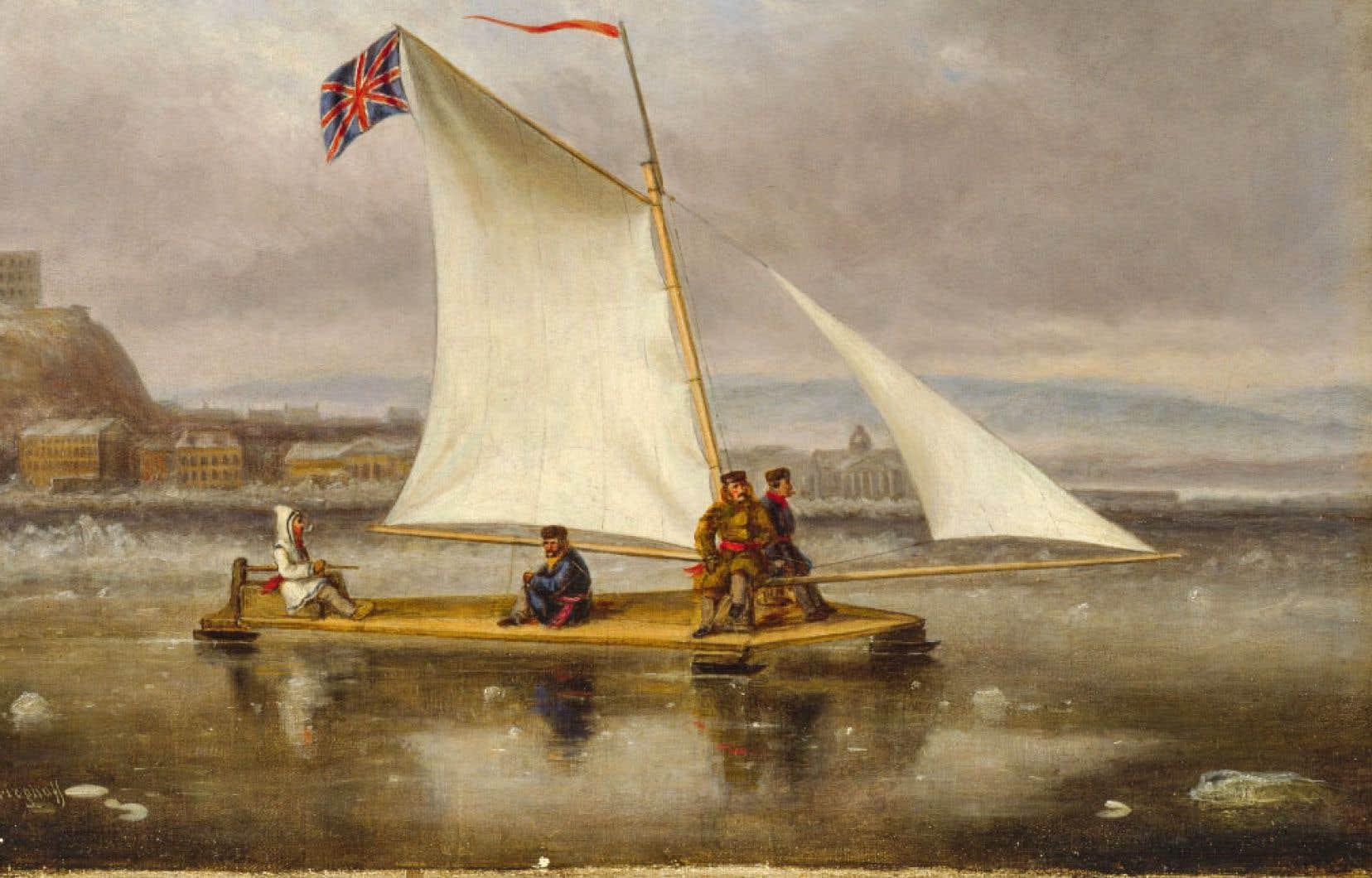 «Le bateau à glace», Québec (détail) (vers 1860), Cornelius Krieghoff