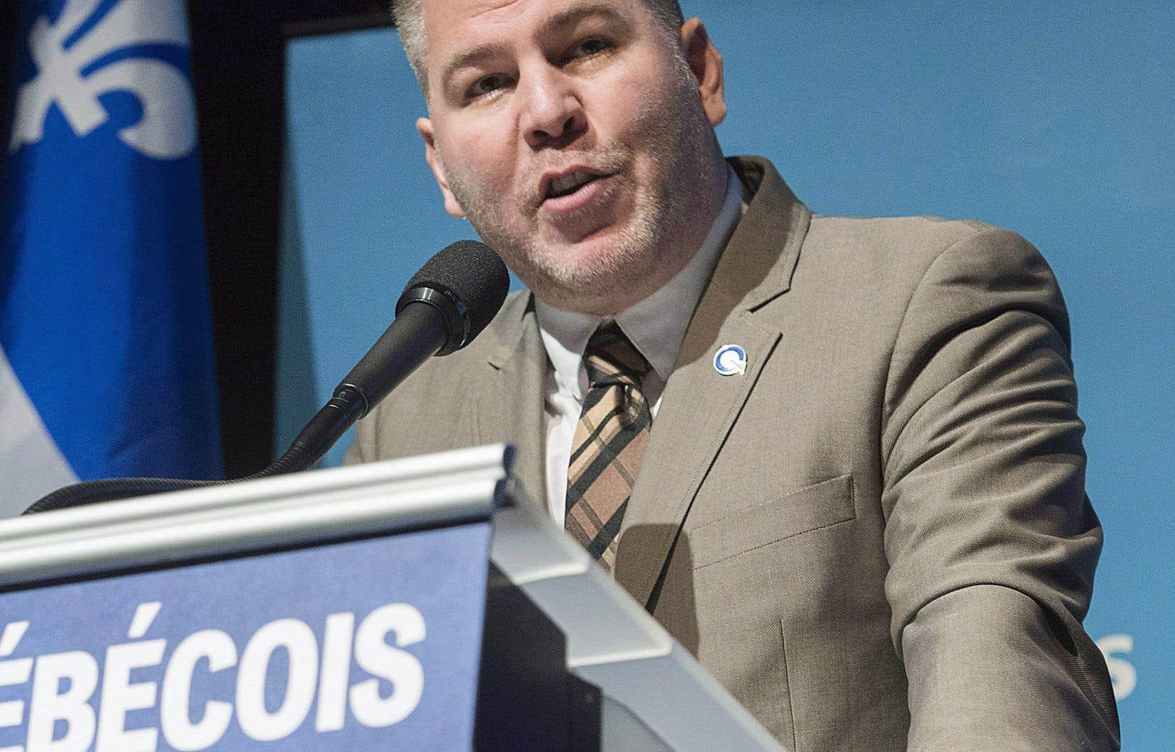 Le chef intérimaire du Parti québécois, Pascal Bérubé