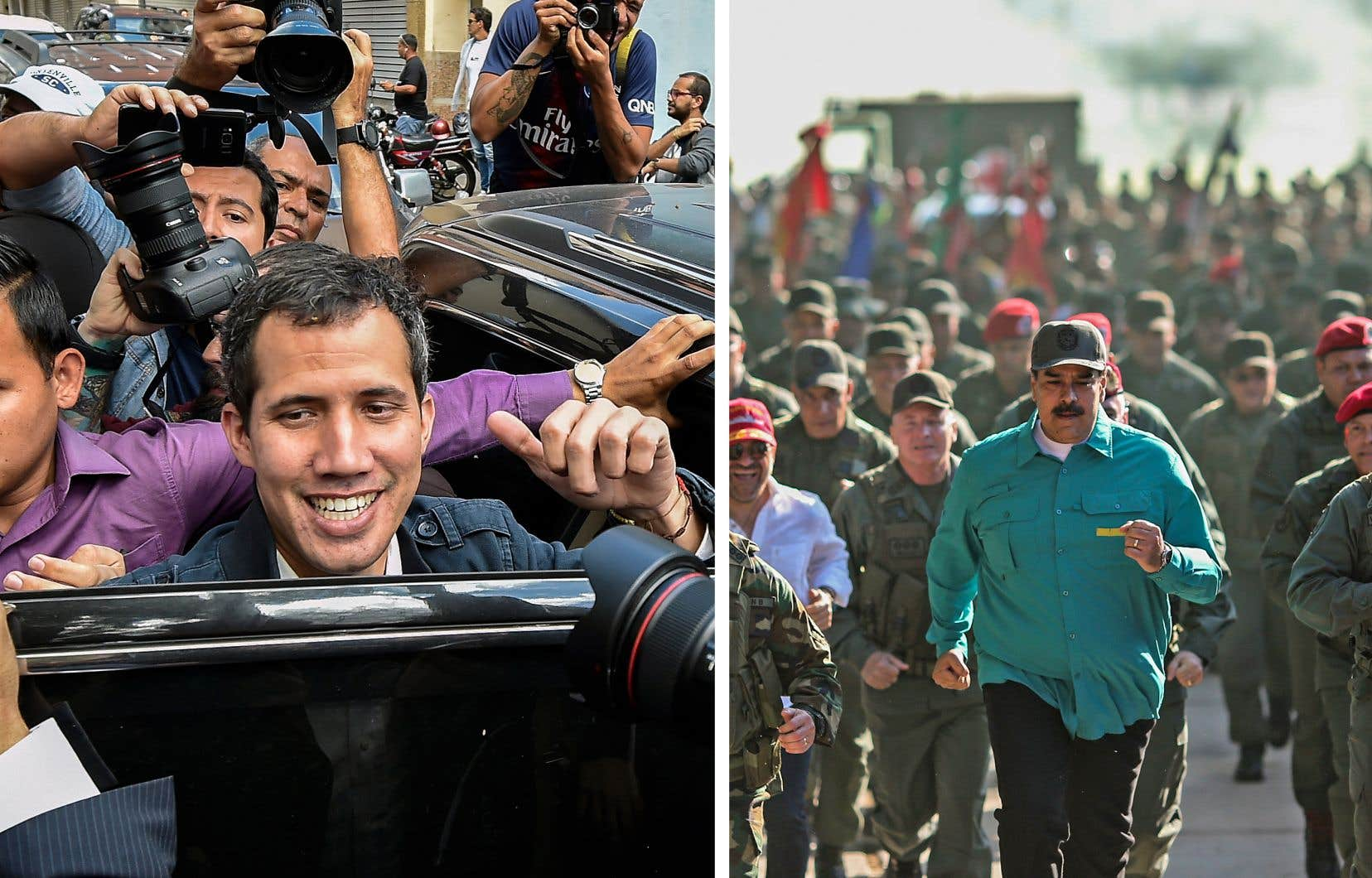 Dimanche, Juan Guaidó rencontrait ses partisans alors que le président du Venezuela, Nicolás Maduro, supervisait des exercices militaires.