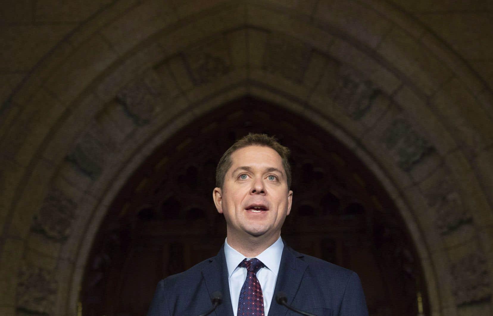 Scheer avance que seul le Parti conservateur est en mesure d'empêcher les libéraux de demeurer au pouvoir.