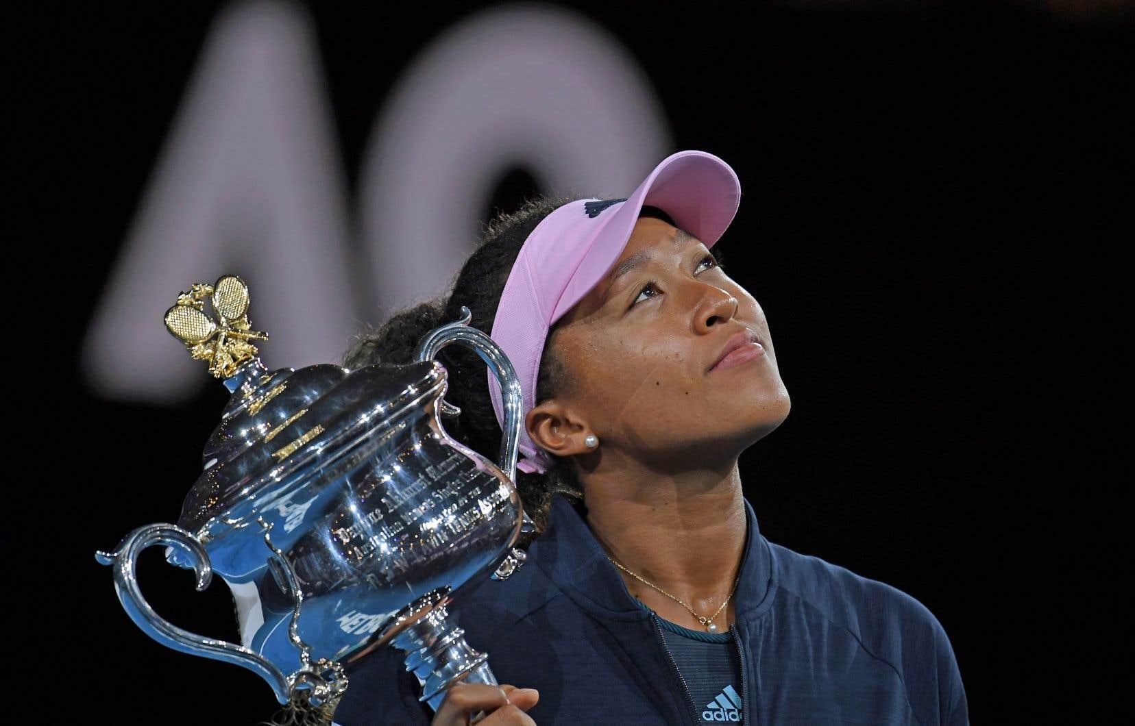 Naomi Osaka, lors de son sacre à l'Open d'Australie samedi dernier