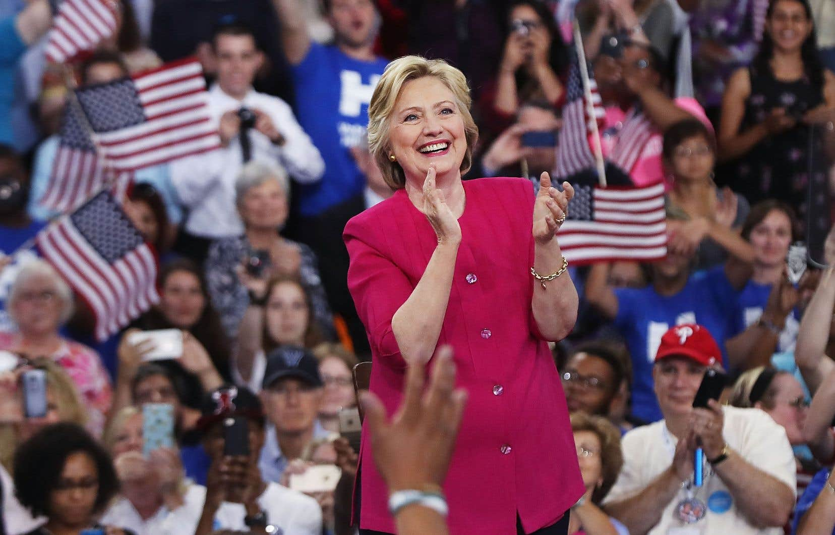 Hillary Clinton lors d'un rassemblement partisan pendant la campagne présidentielle, en juillet 2016