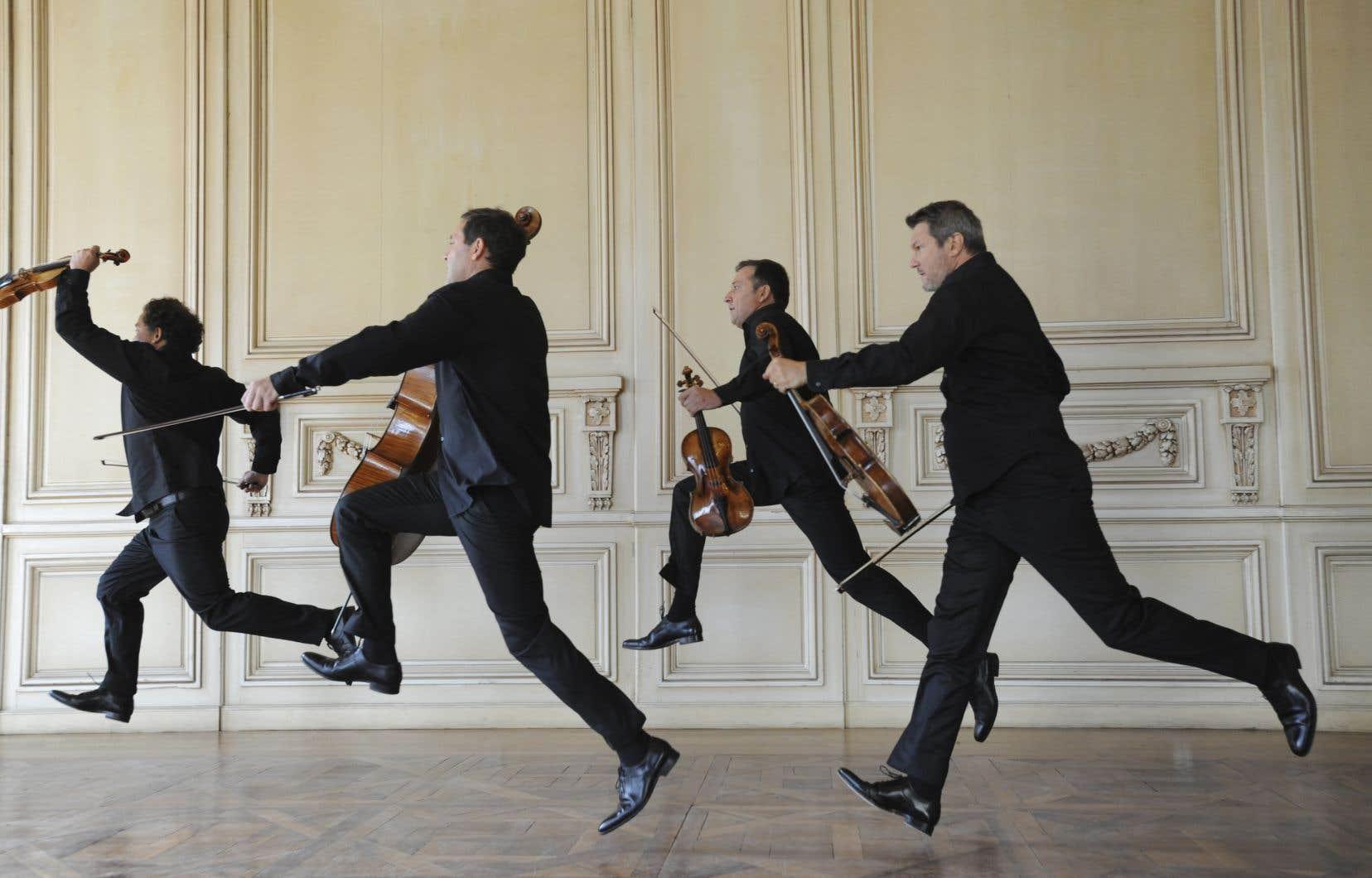 Le Quatuor Debussy se produisaitmercredi soir à la salle Bourgie.