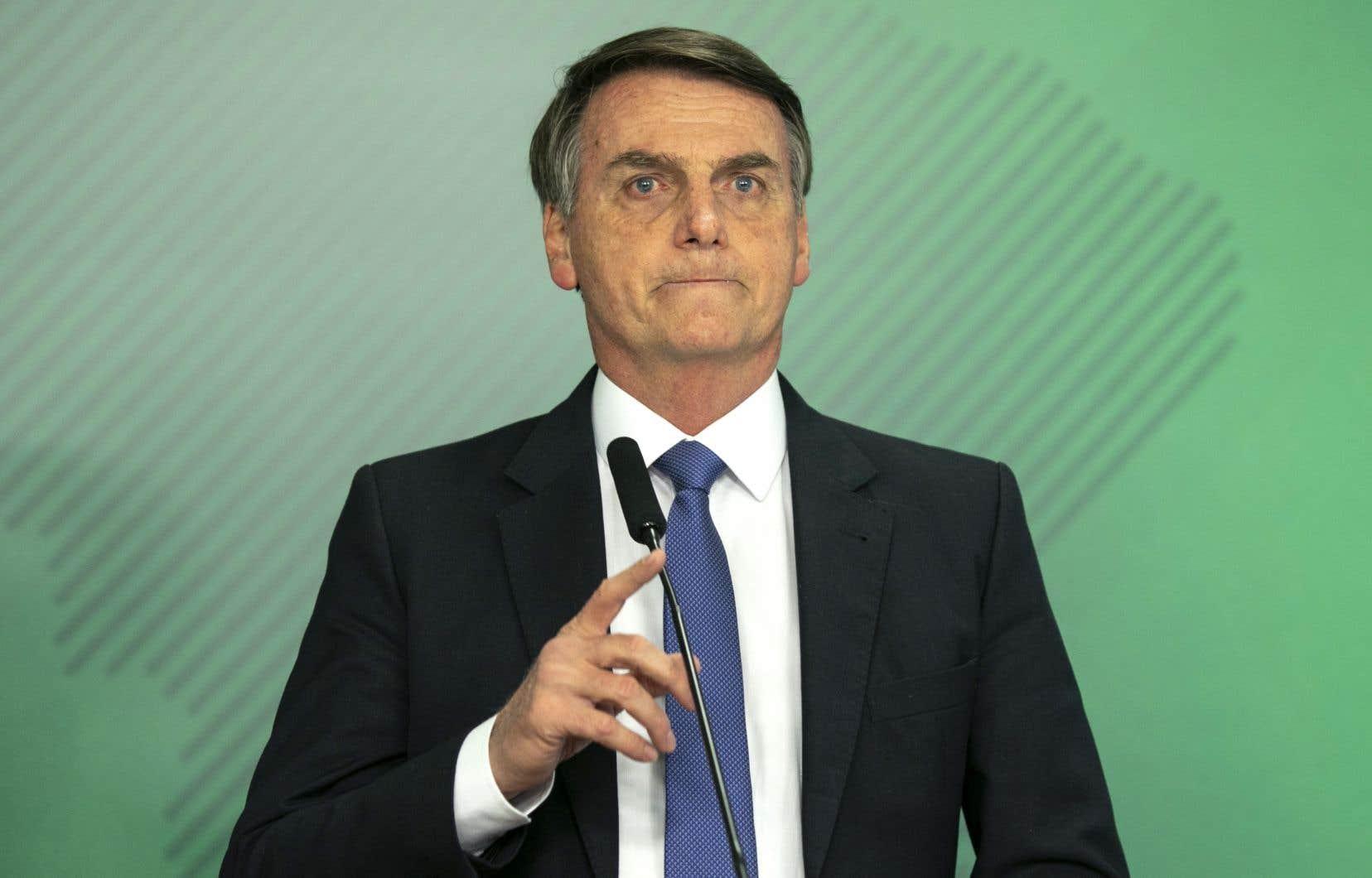 Le nouveau président du Brésil Jair Bolsonaro estentré en fonction le 1erjanvier.