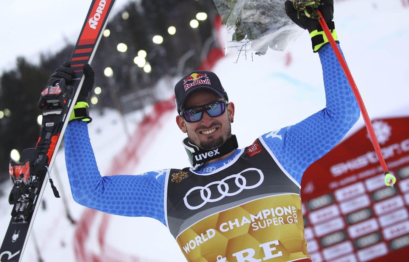 Dominik Paris couronné super-G masculin aux Championnats du monde de ski alpin mercredi