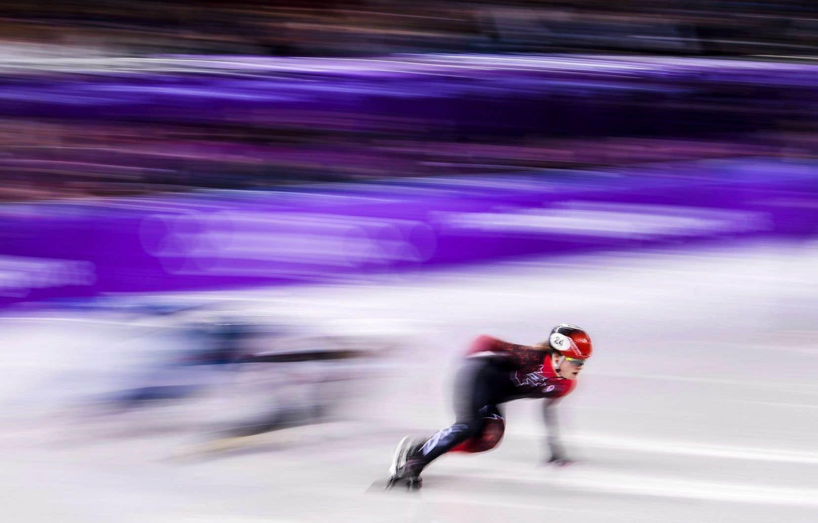 KimBoutin, originaire de Sherbrooke, a franchi l'arrivée en 1:32,508.