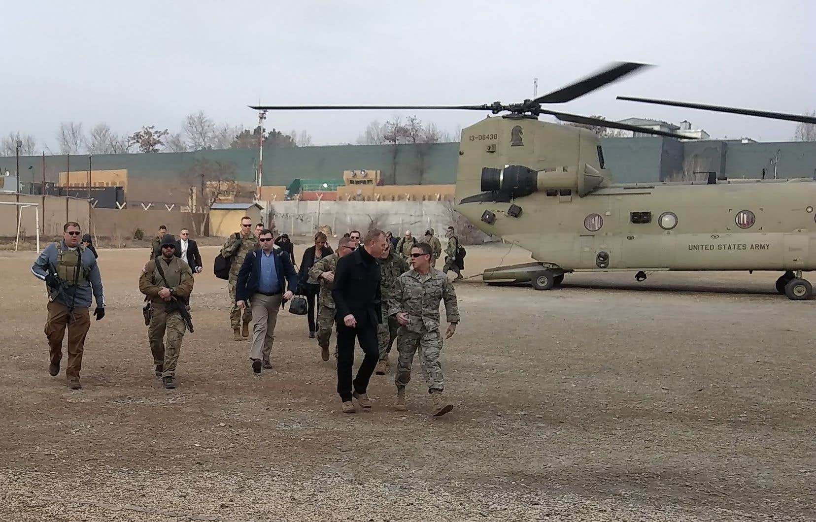 Le chef du Pentagone par intérim, Patrick Shanahan, se trouvait lundi en Afghanistan.