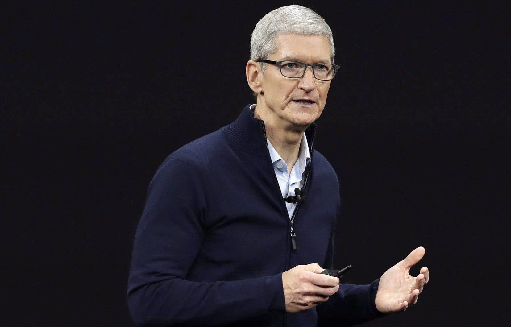Le directeur général d'Apple,Tim Cook