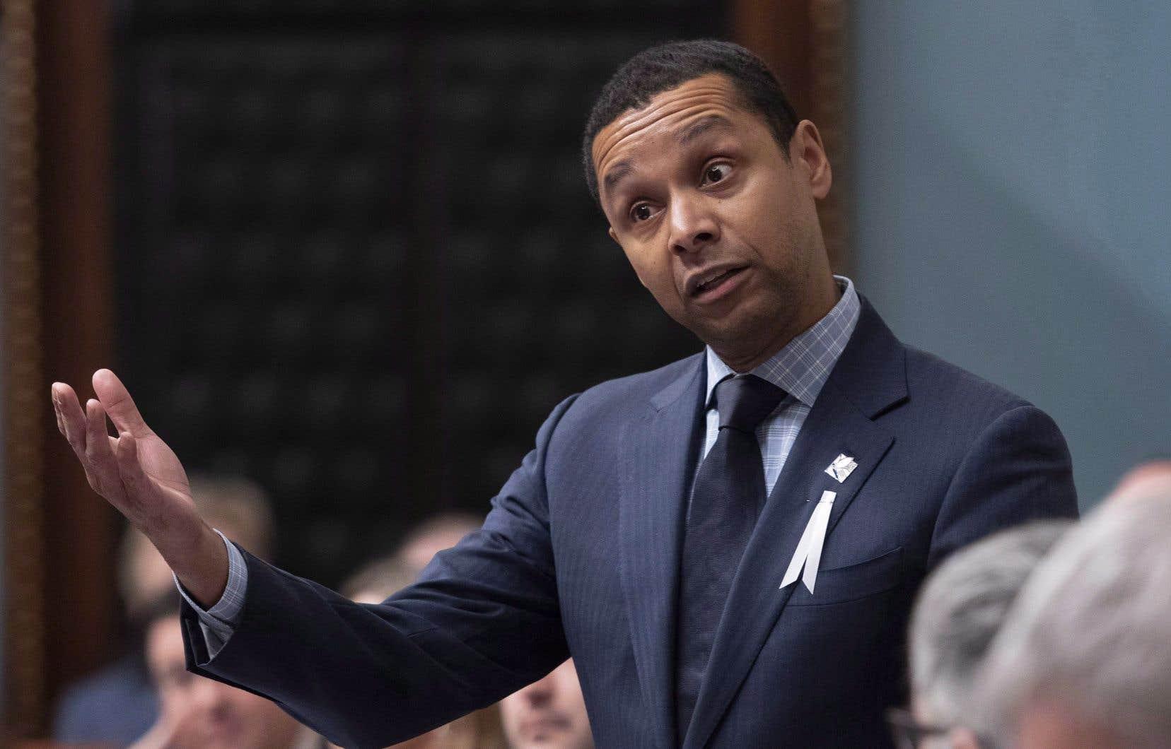 Le ministre délégué à la Santé et aux Services sociaux, Lionel Carmant, a déposé son projet de loi en décembre.