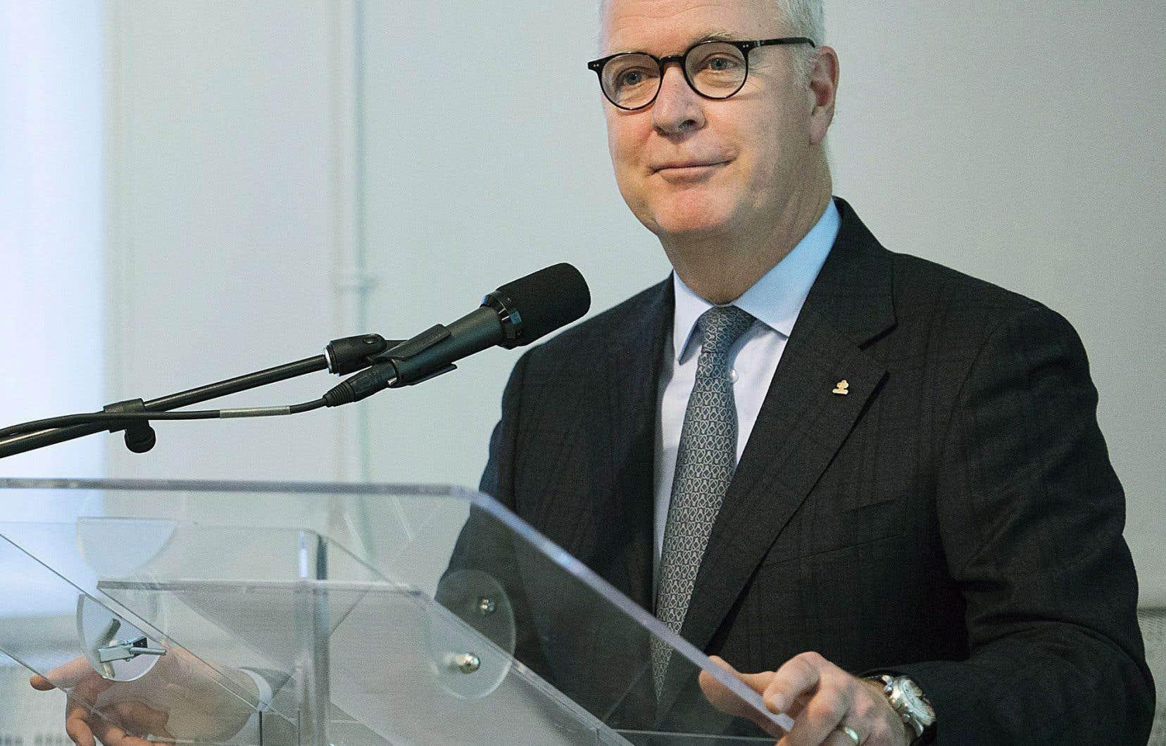 Le chef de la direction d'Agropur,Robert Coallier