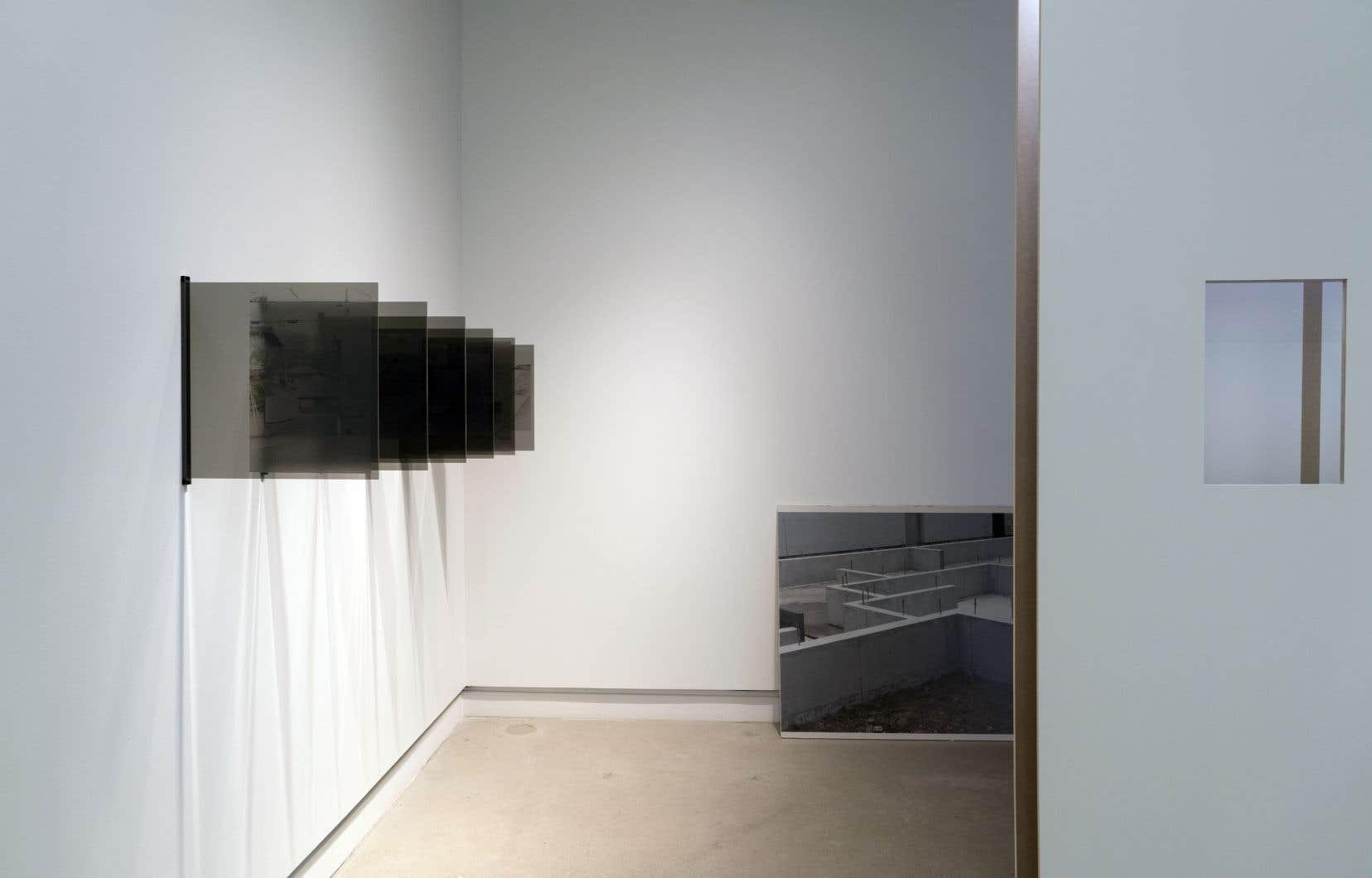Vue de l'exposition «Traverses» de Lucie Rocher