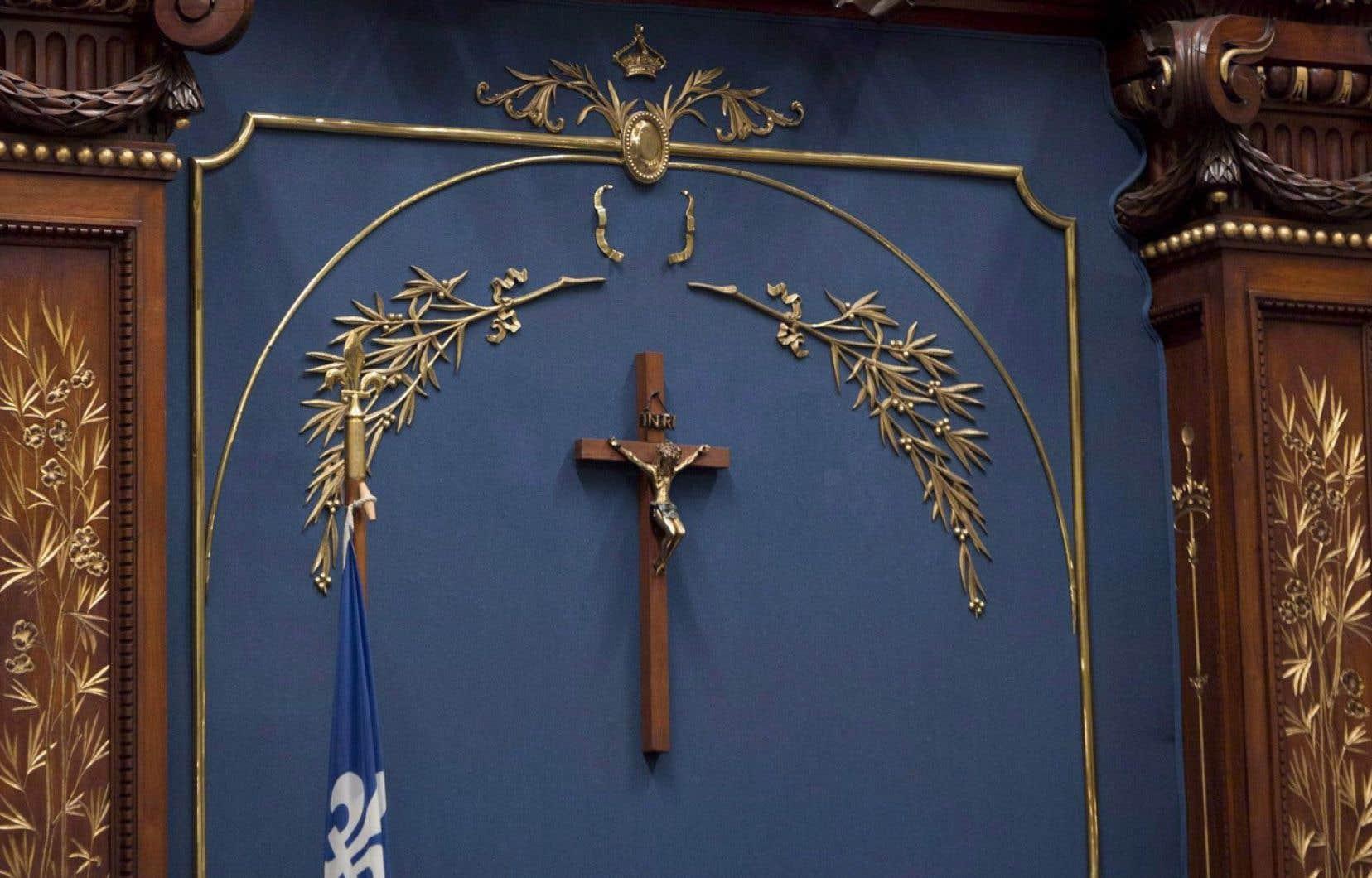 Le gouvernement de la CAQ n'a pas à ce jour déposé son projet de loi sur la laïcité, mais il semble déterminé à laisser le crucifix à l'Assemblée nationale (notre photo), de même que dans les palais de justice.