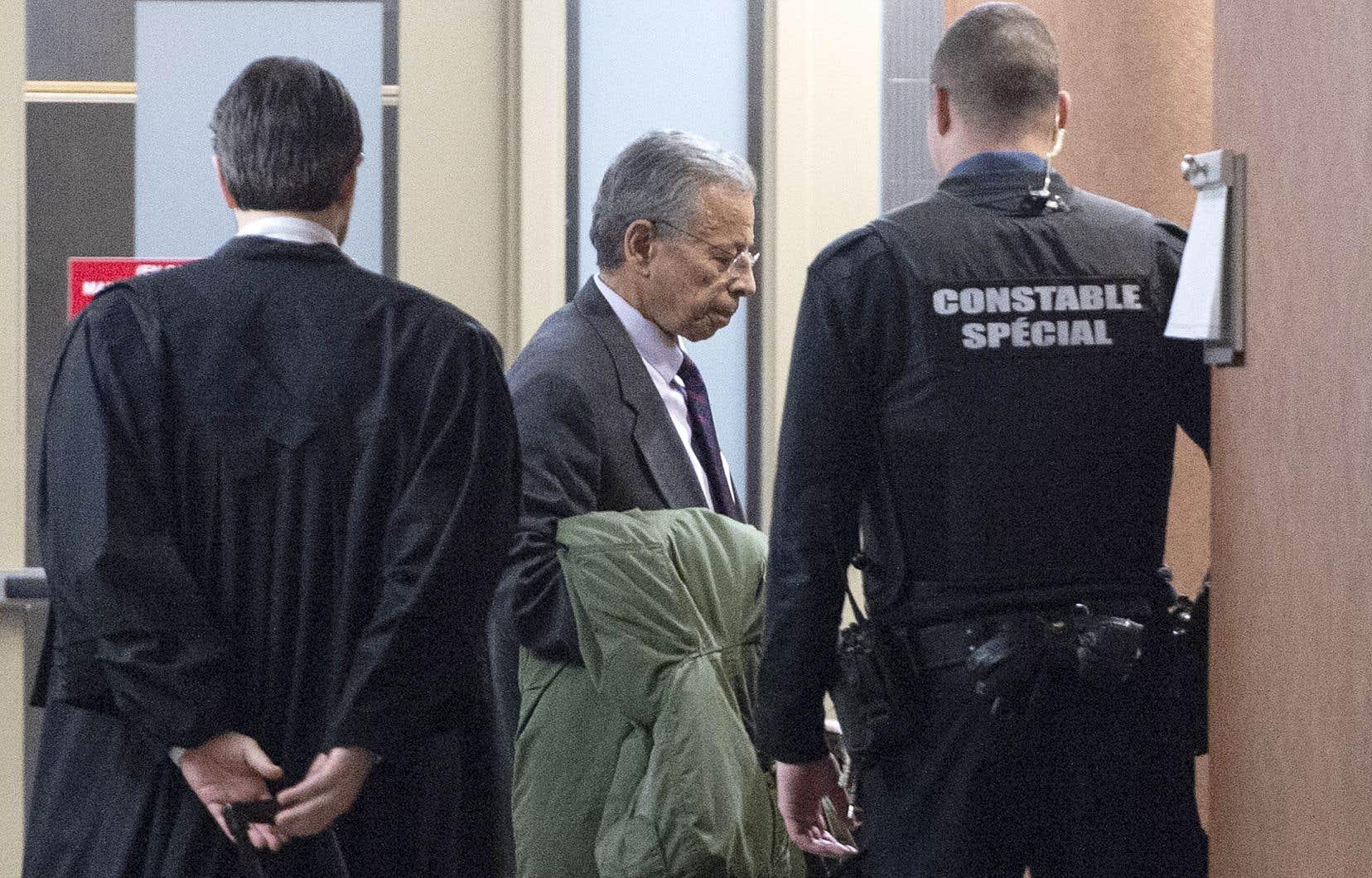 L'ancien vice-président chez SNC-Lavalin, Sami Abdellah Bebawi, à son entrée au tribunal vendredi