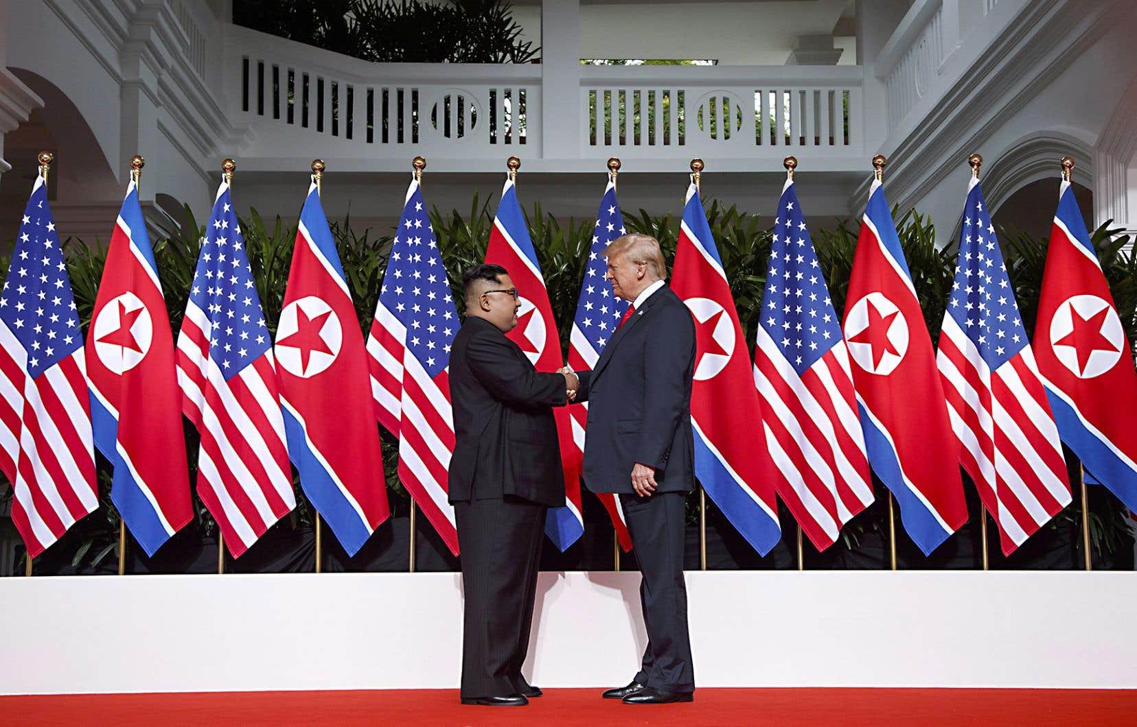 Kim Jong-un et Donald Trump à Singapour