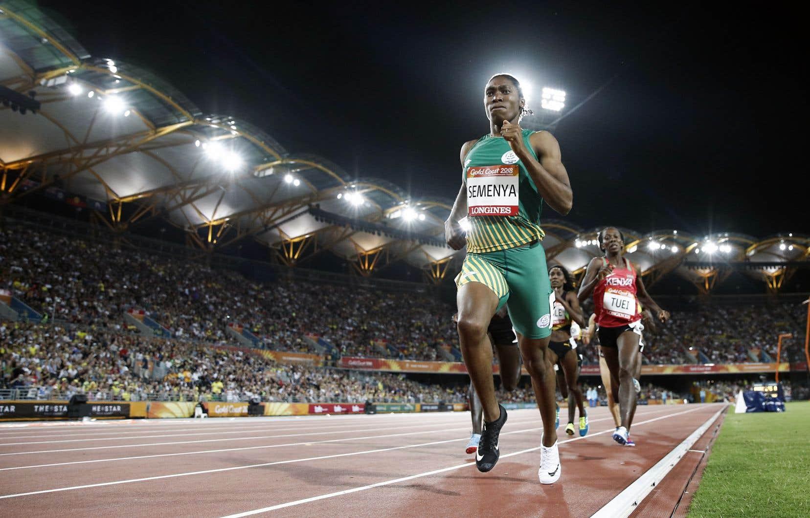 L'athlète sud-africaine Caster Semenya, à l'épreuve de 800m des Jeux du Commonwealth en avril 2018