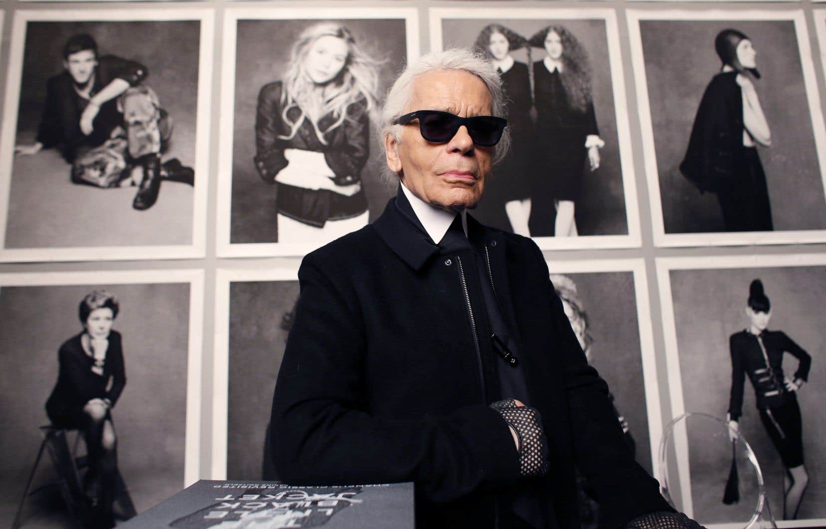 Le couturier allemand Karl Lagerfeld