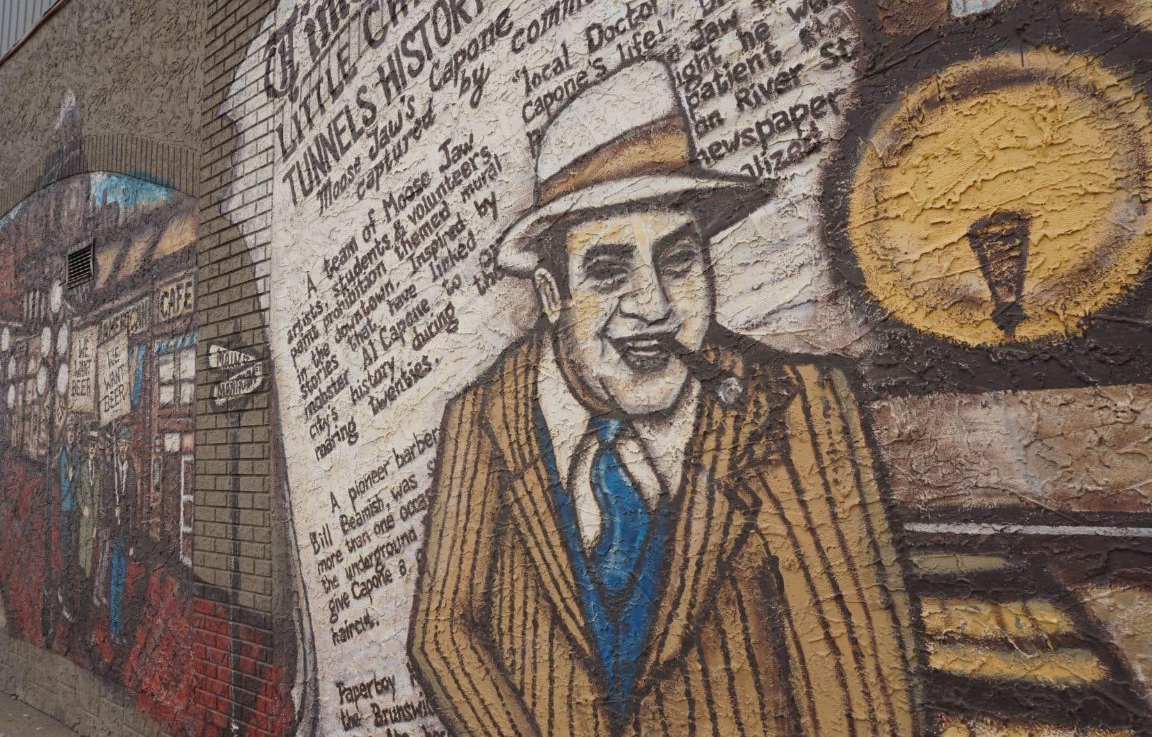 Une murale d'Al Capone