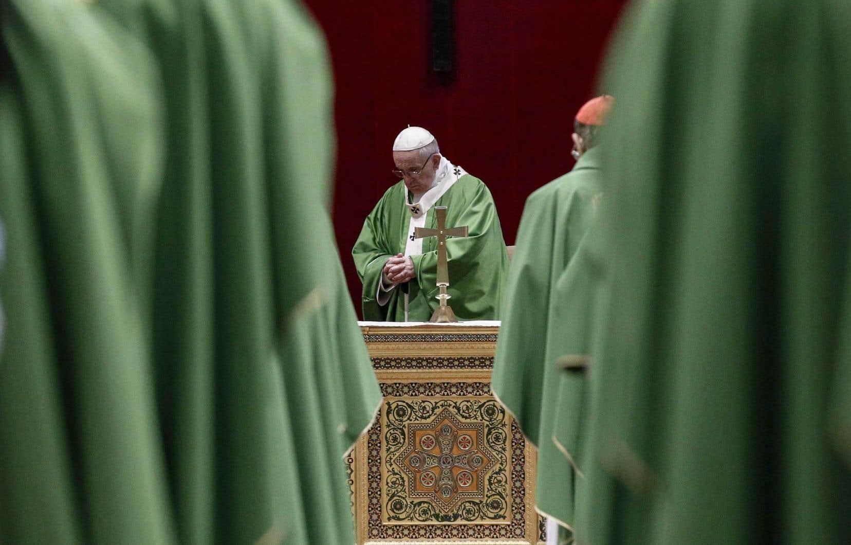 Le pape François lors de la cérémonie clôturant le sommet